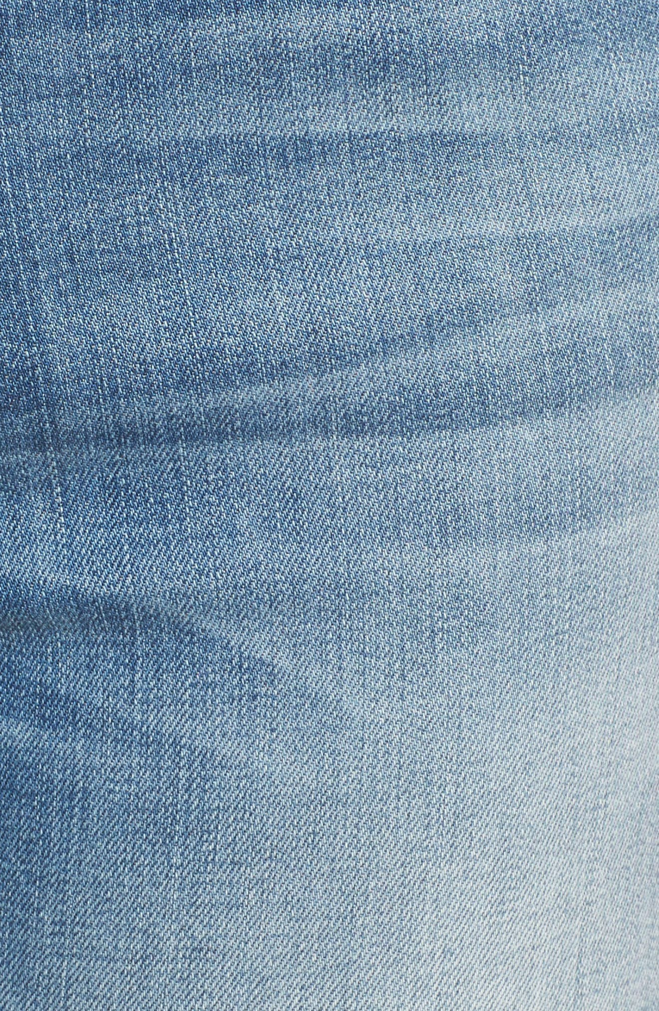Ellie Ripped High Waist Skinny Jeans,                             Alternate thumbnail 5, color,                             400