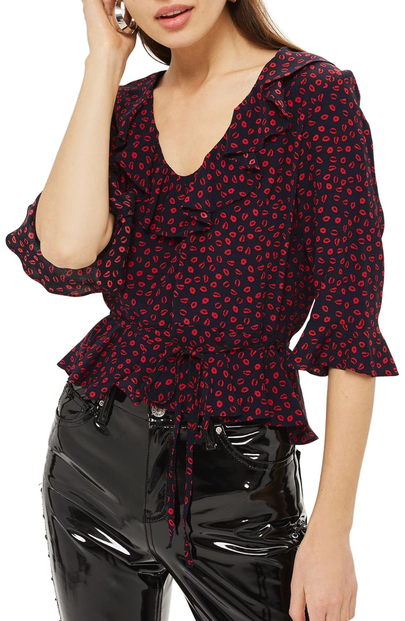 Phoebe Frilly Blouse,                             Main thumbnail 3, color,