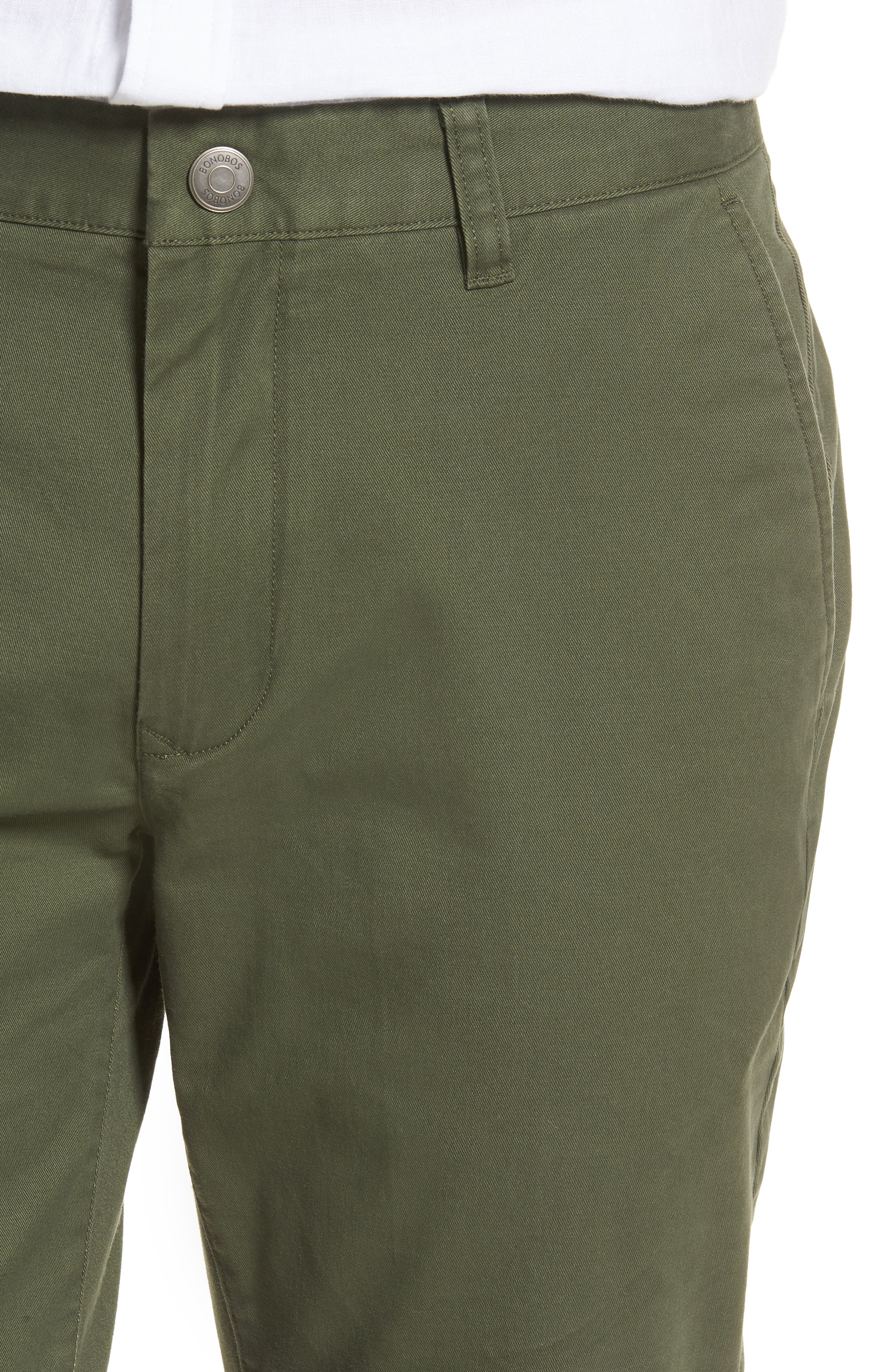 Tailored Fit Washed Stretch Cotton Chinos,                             Alternate thumbnail 113, color,