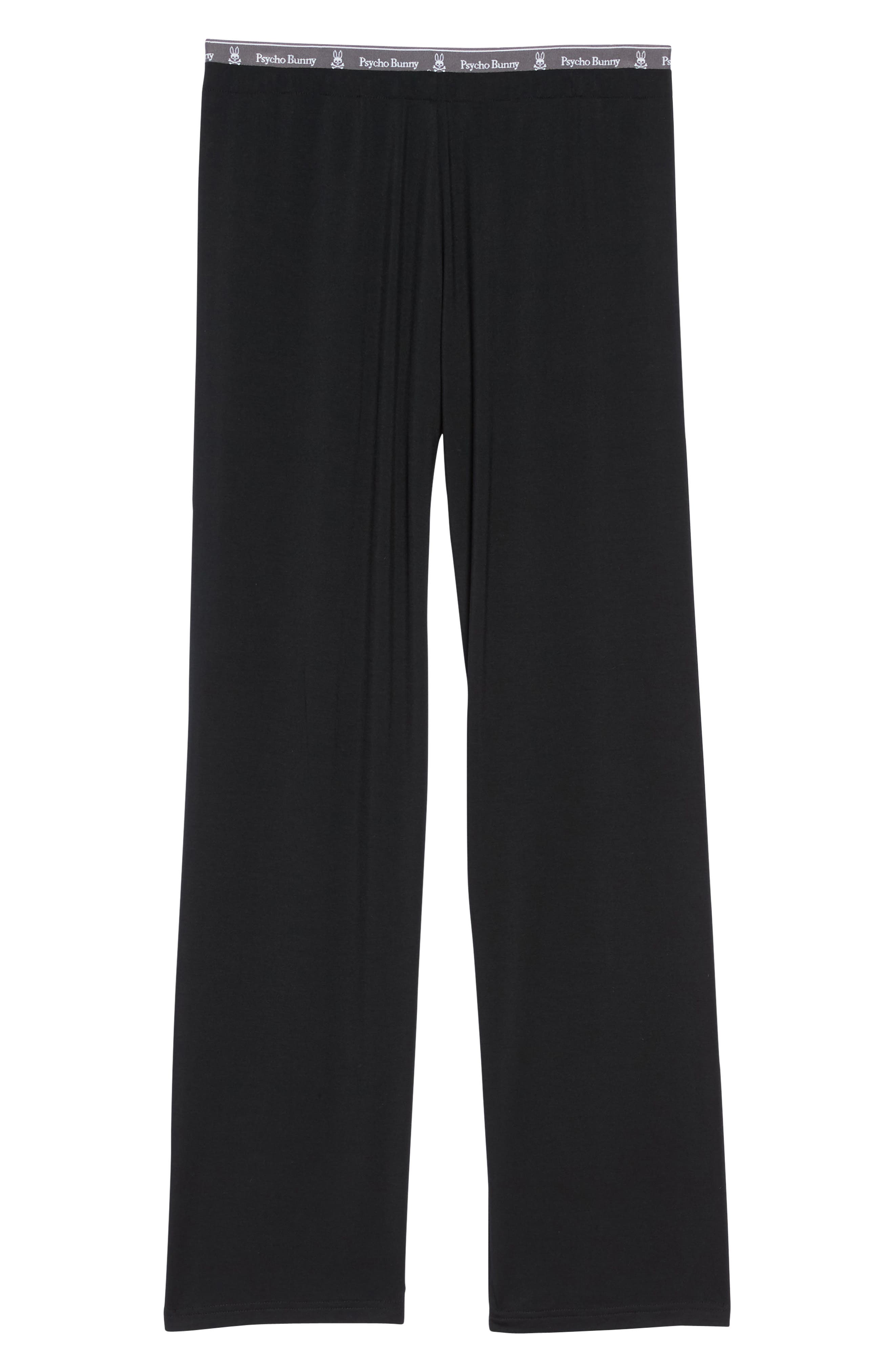 Luxe Jersey Pants,                             Alternate thumbnail 6, color,                             001