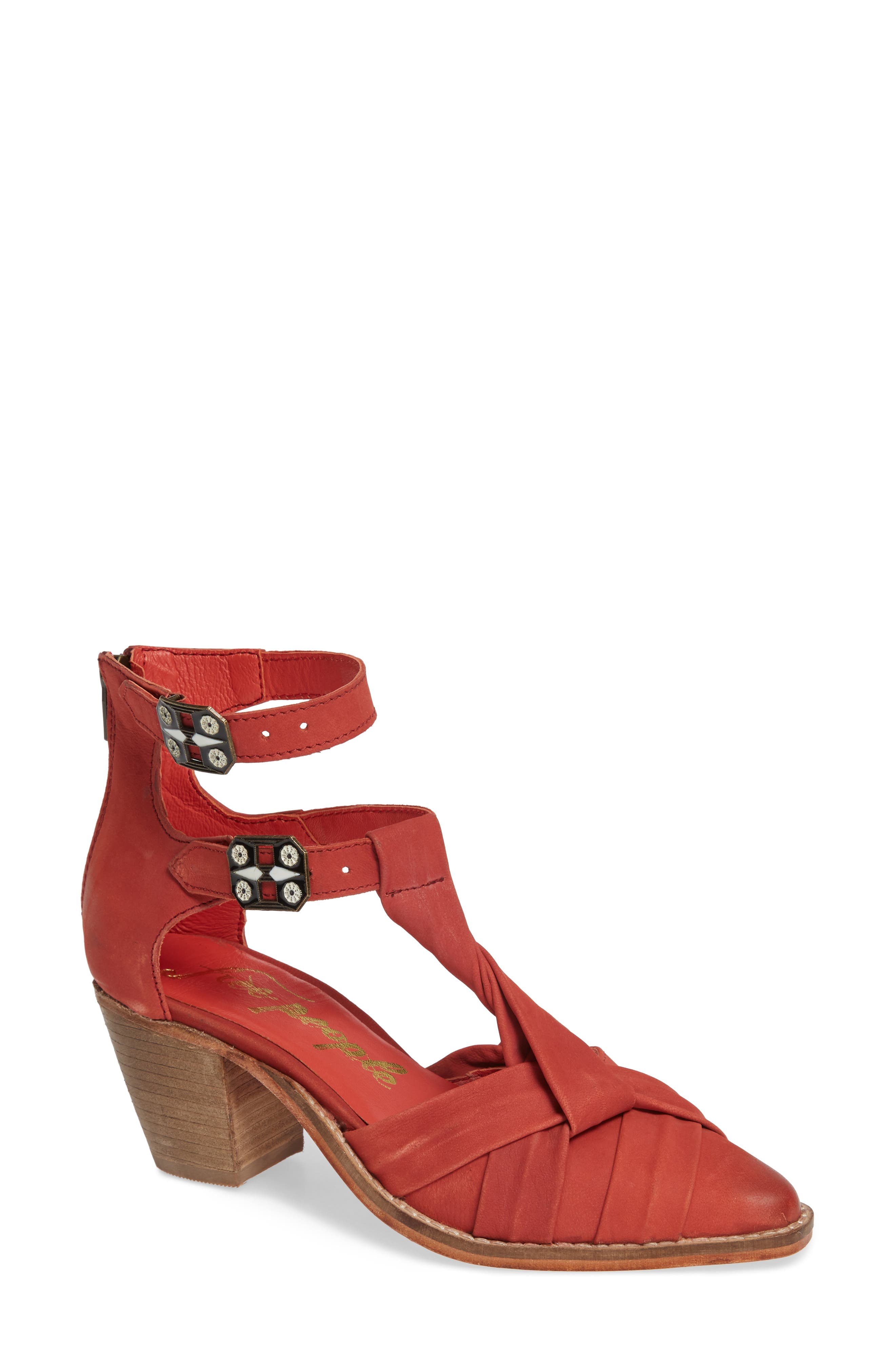 Free People Canosa Cutout Bootie, Red
