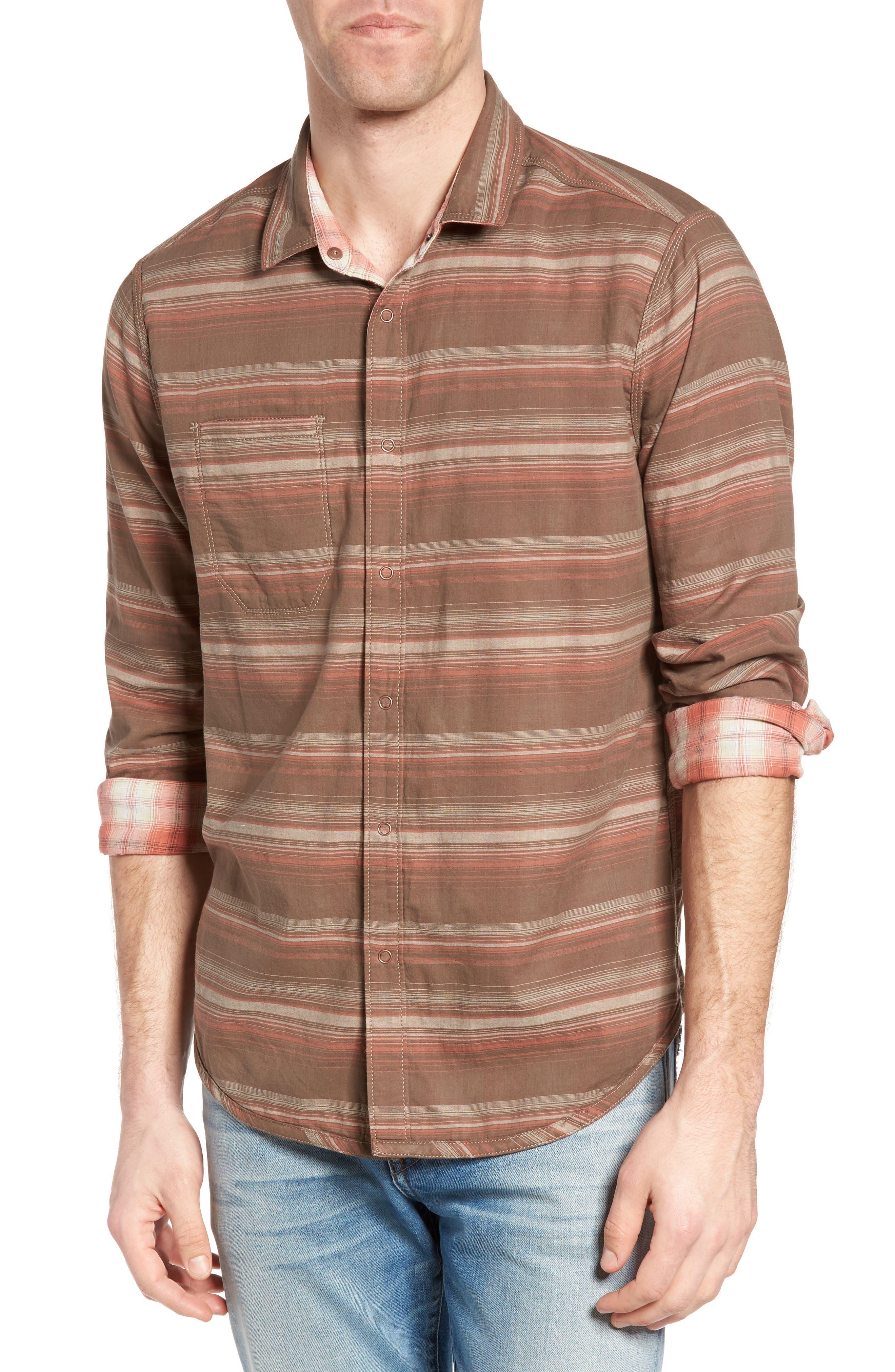 Vogel Regular Fit Reversible Plaid Sport Shirt,                             Alternate thumbnail 4, color,                             201