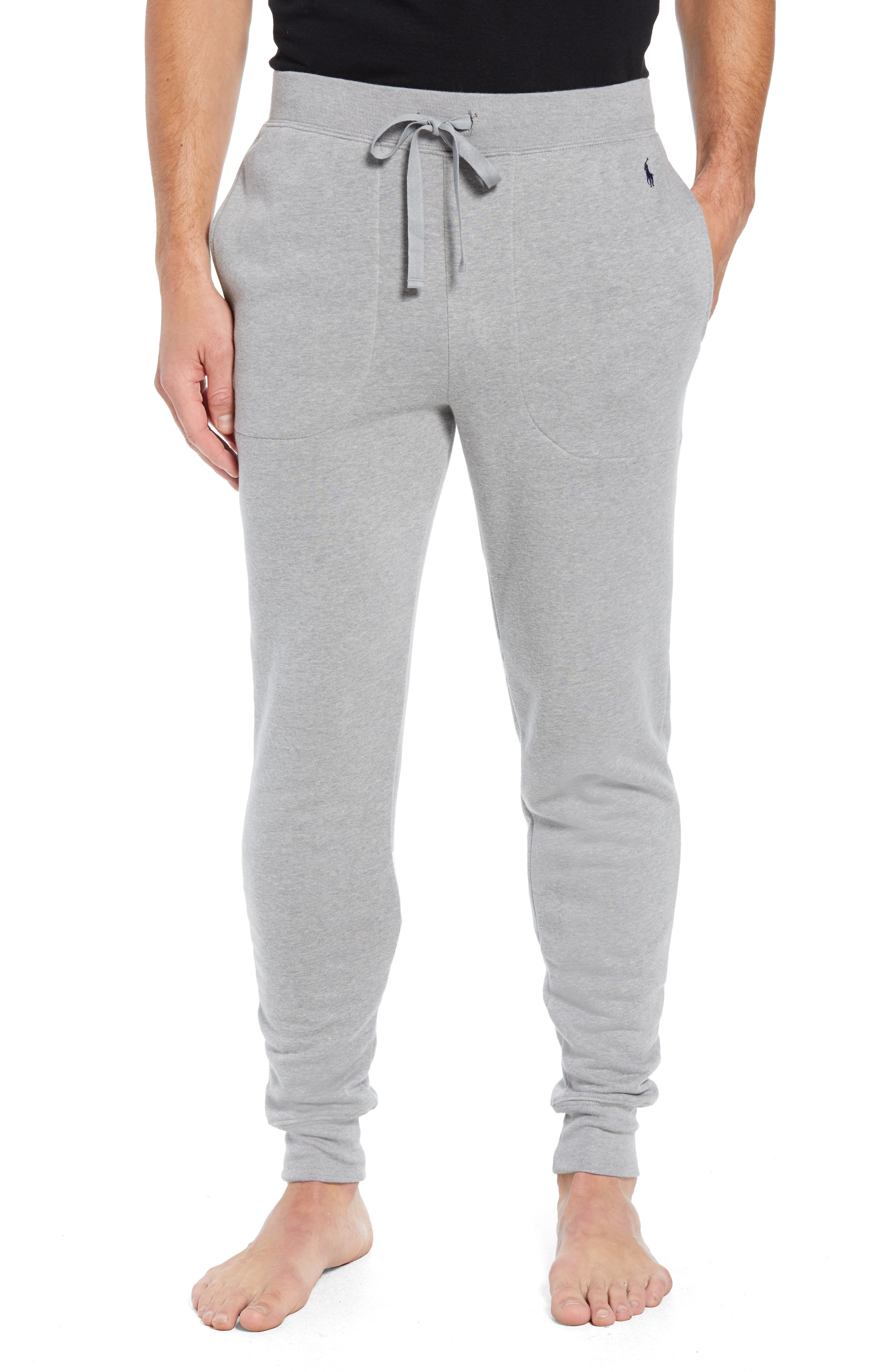 Brushed Jersey Cotton Blend Jogger Pants,                             Main thumbnail 1, color,                             ANDOVER HEATHER GREY