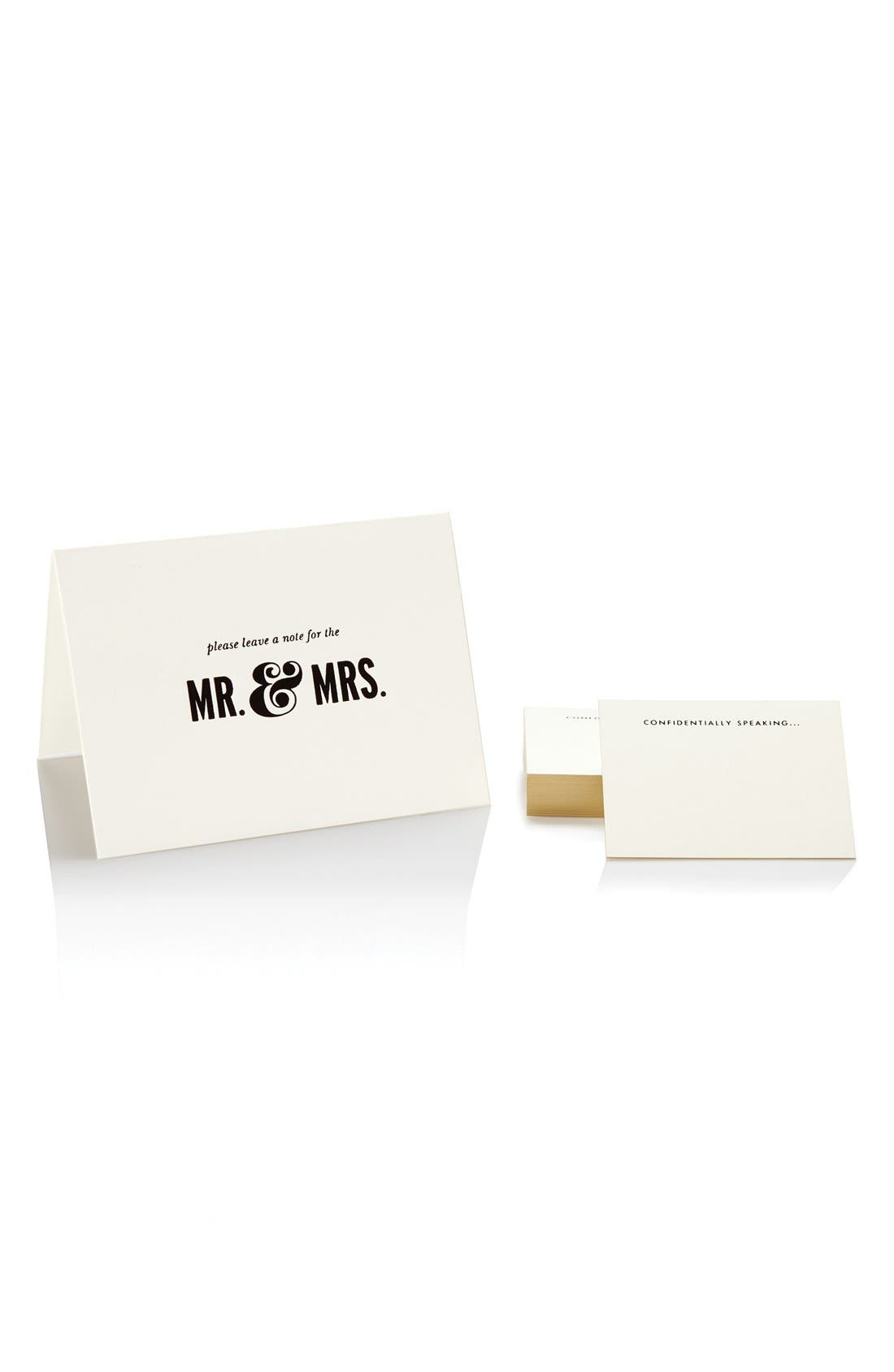 KATE SPADE NEW YORK 'notes to the bride & groom' guest book, Main, color, 100