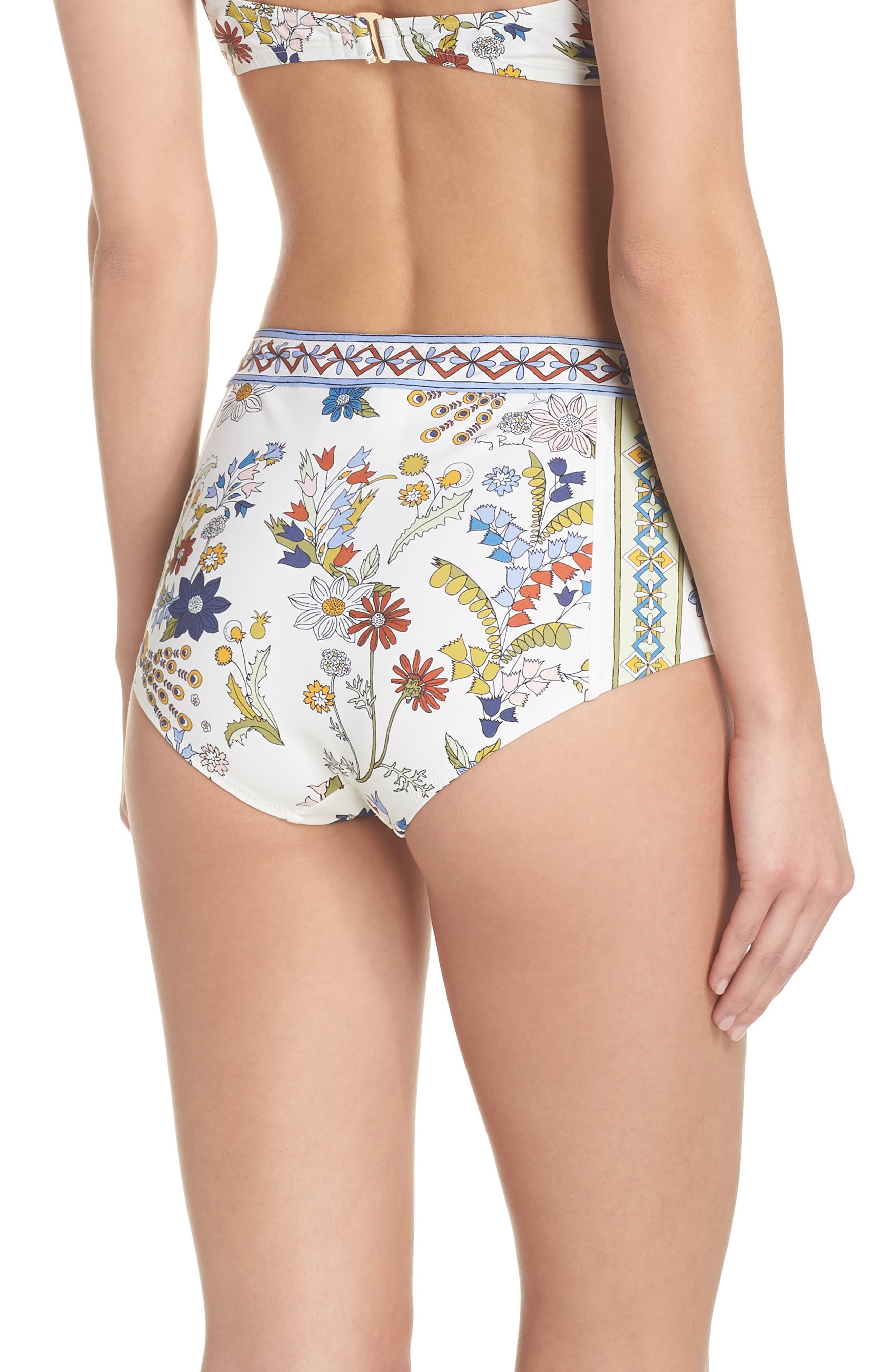 Meadow Folly High Waist Bikini Bottoms,                             Alternate thumbnail 2, color,                             900