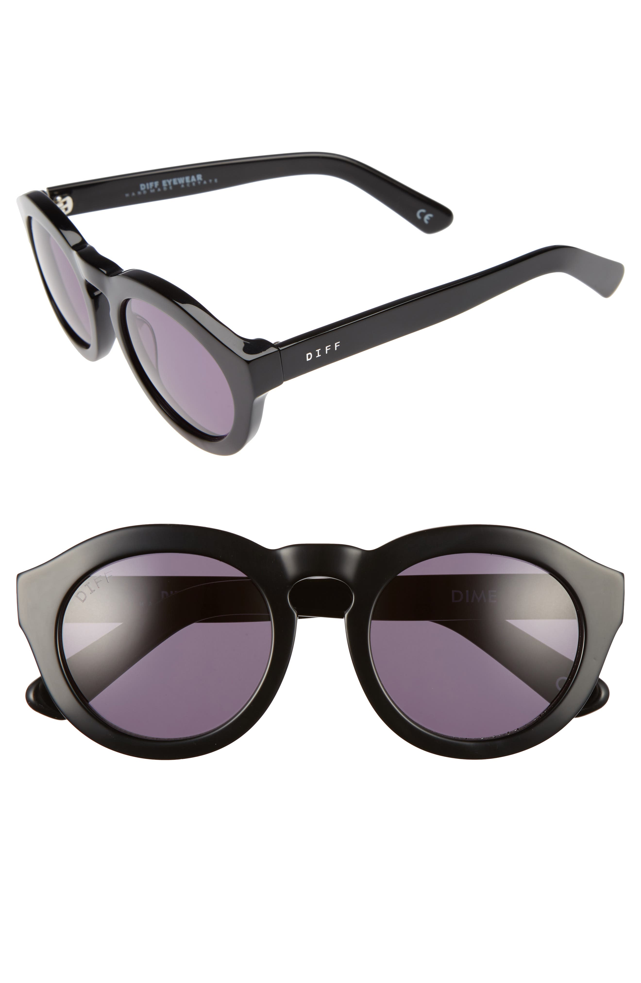 Dime 48mm Retro Sunglasses,                         Main,                         color, 020