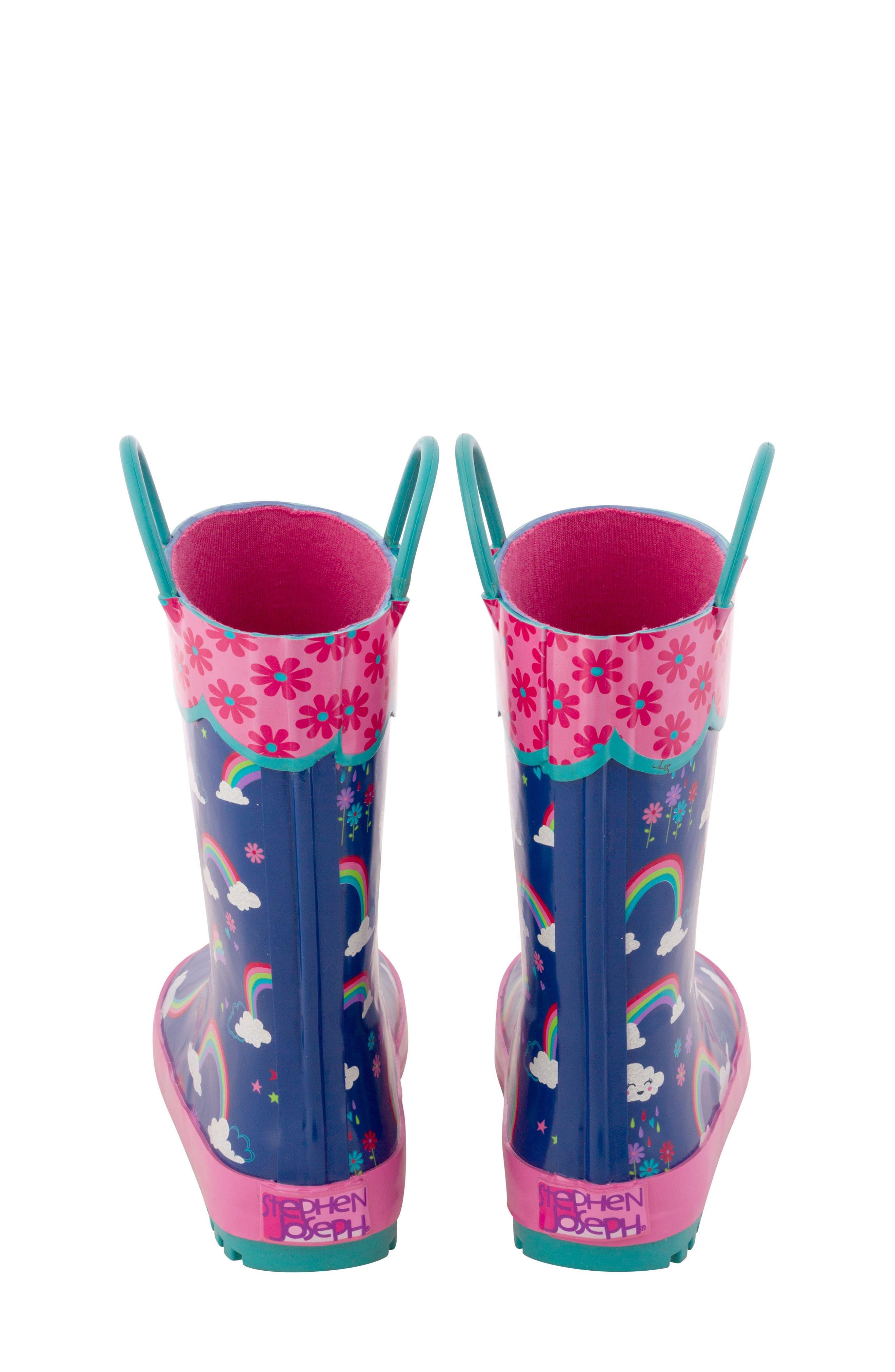 STEPHEN JOSEPH,                             Rainbow Rain Boots & Umbrella Set,                             Alternate thumbnail 2, color,                             RAINBOW