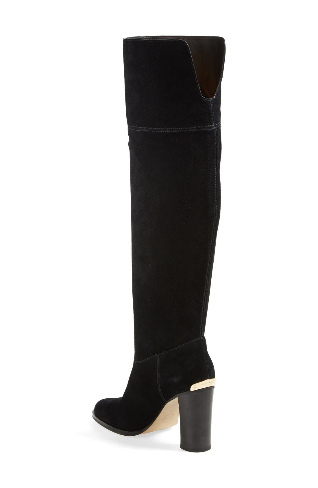 'Regina' Over the Knee Boot,                             Alternate thumbnail 5, color,                             001