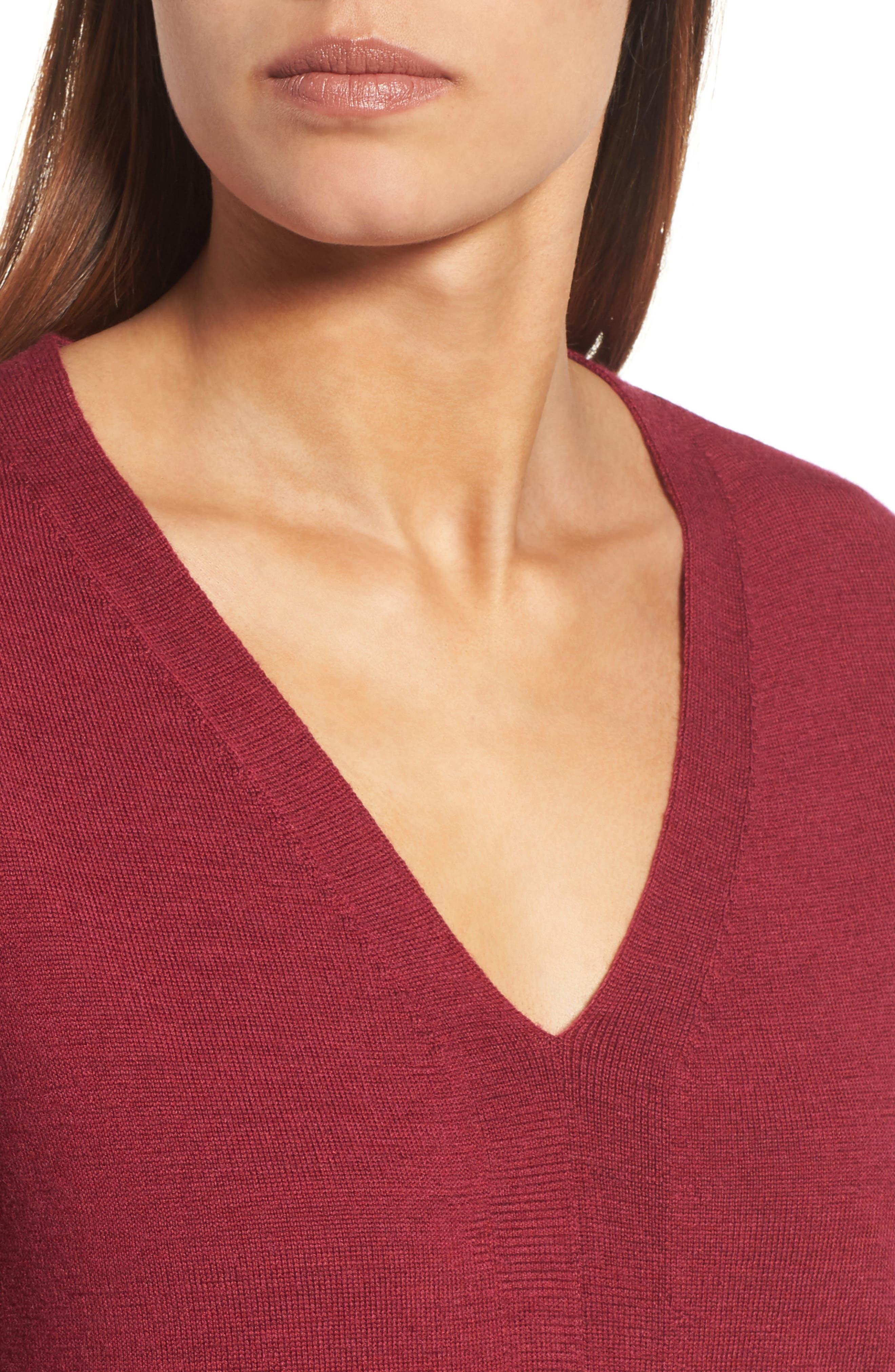Merino Wool Tunic Sweater,                             Alternate thumbnail 28, color,