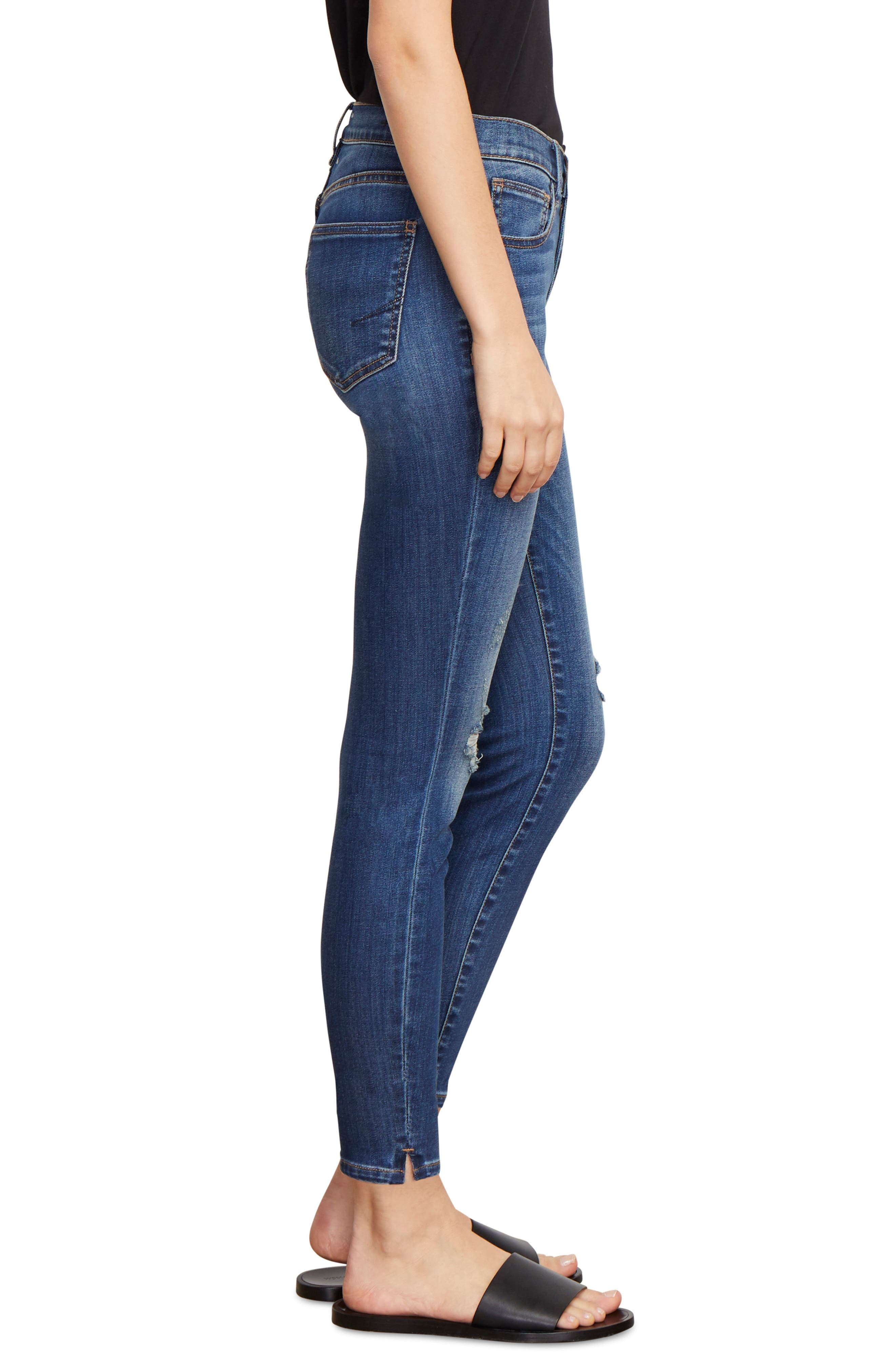 Marina Ankle Skinny Jeans,                             Alternate thumbnail 3, color,                             CABACHON