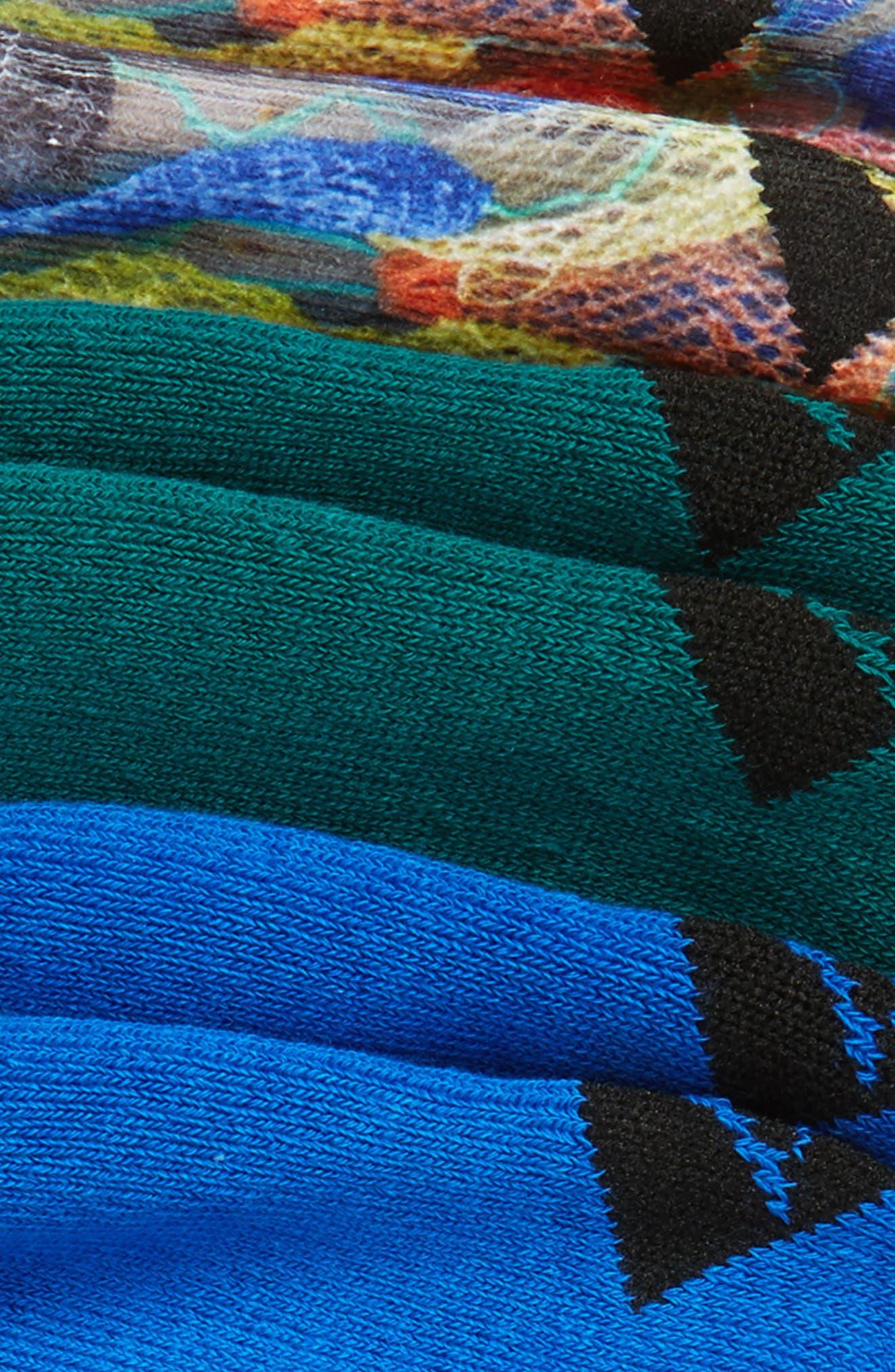 3-Pack Print Liner Socks,                             Alternate thumbnail 2, color,                             485