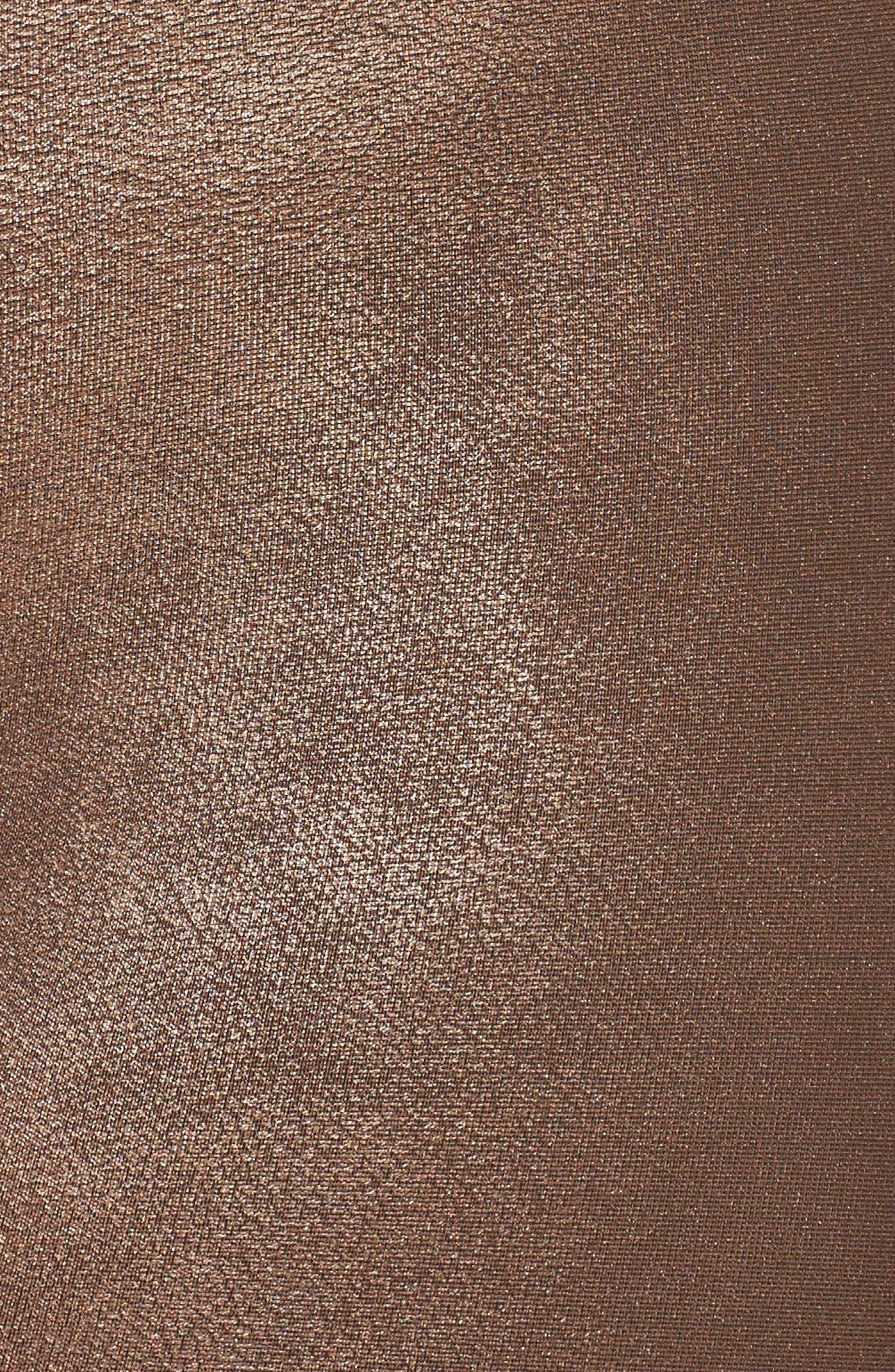 Faux Leather Leggings,                             Alternate thumbnail 6, color,                             BRONZE METAL