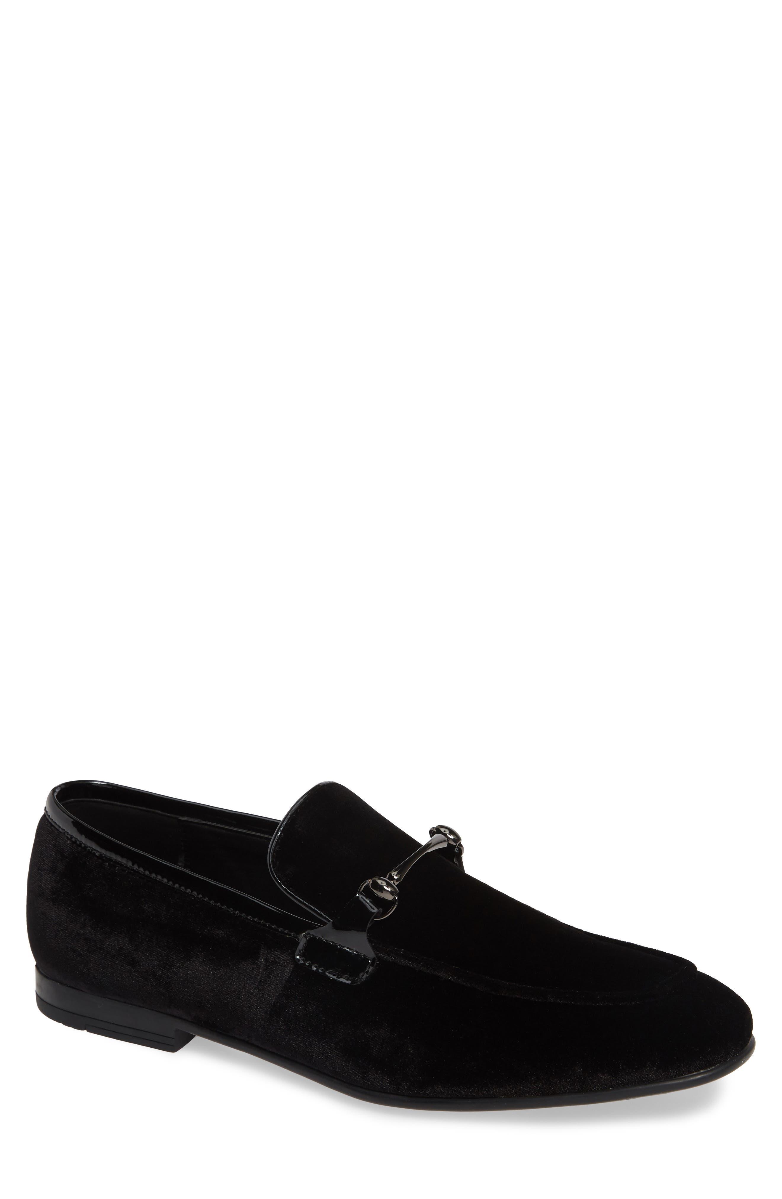 Nelson Venetian Bit Loafer,                         Main,                         color, BLACK VELVET