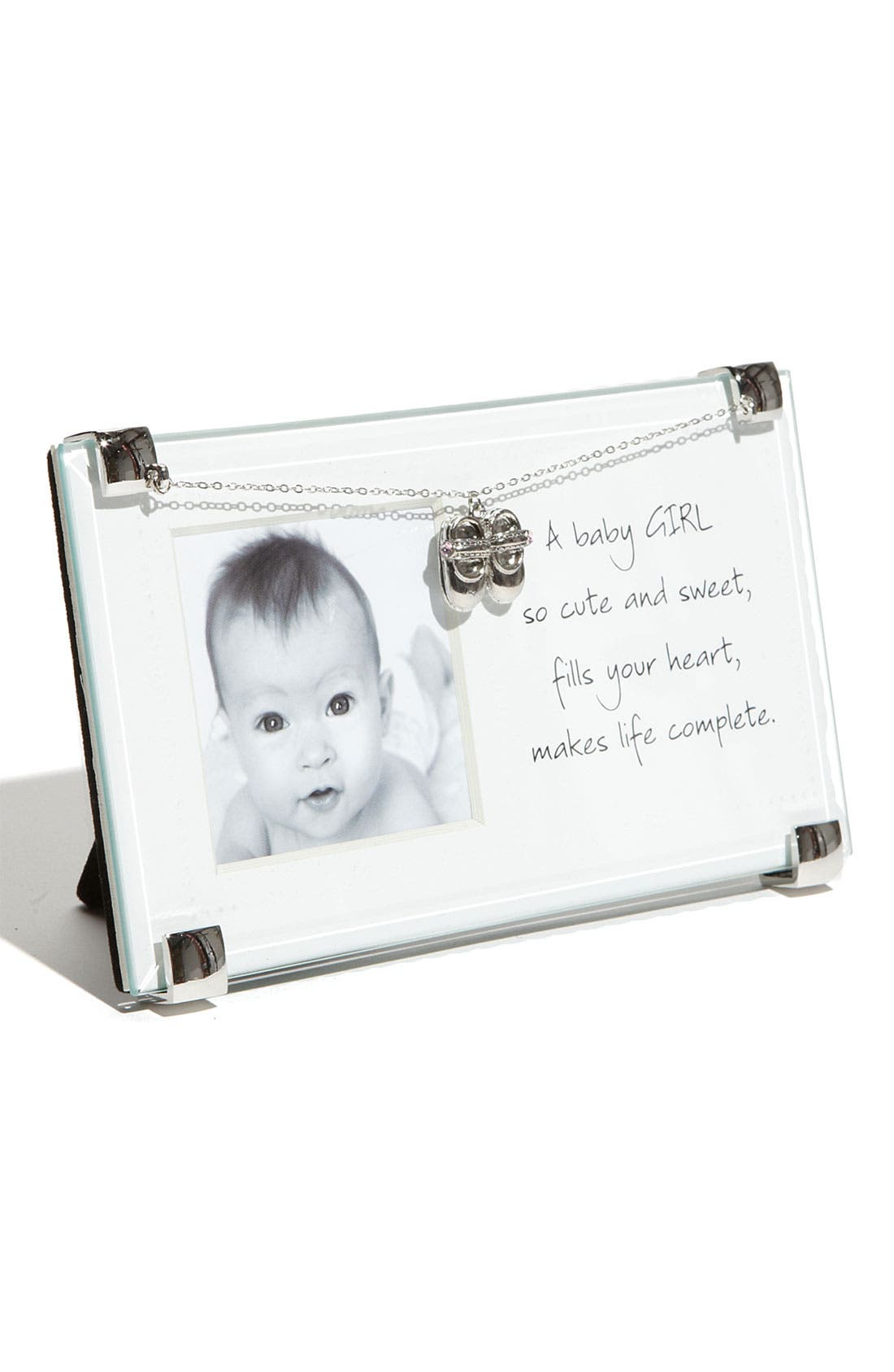 New Baby Girl Picture Frame,                         Main,                         color, PINK