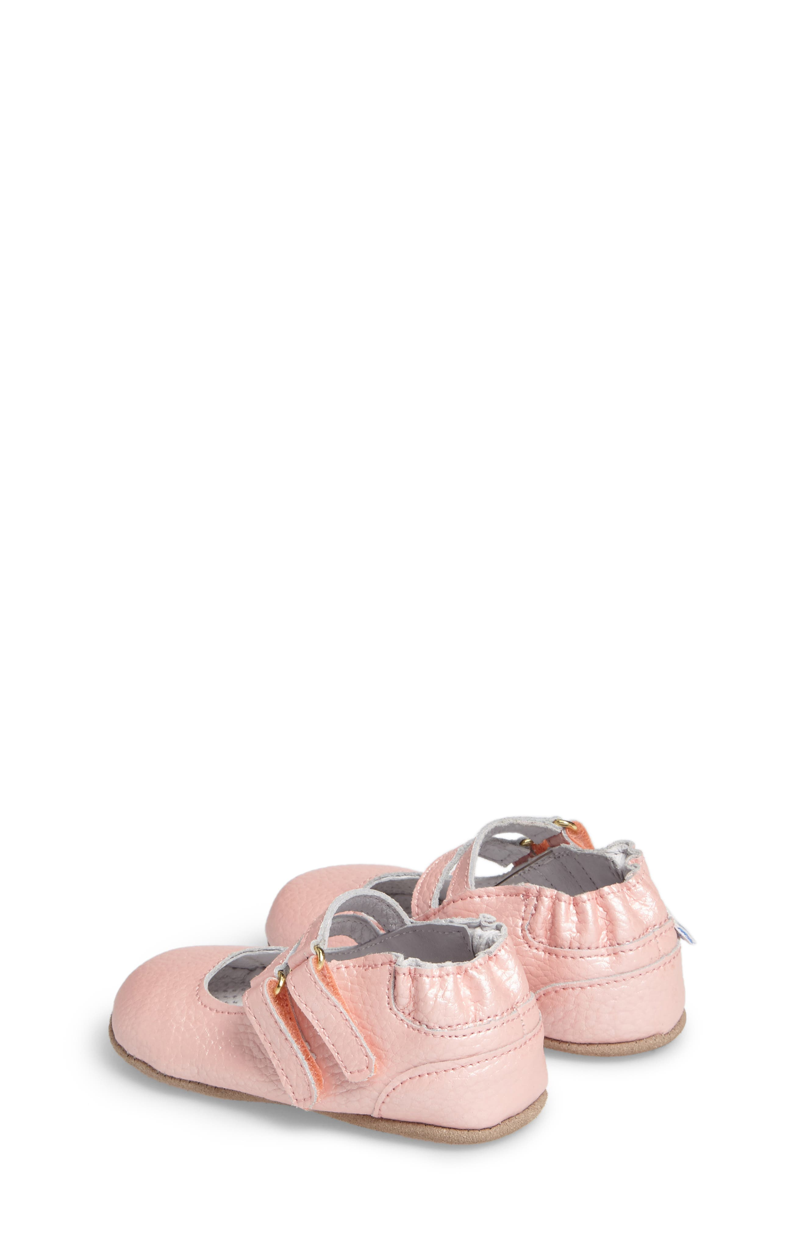 Rose Mary Jane Crib Shoe,                             Alternate thumbnail 2, color,                             ROSE