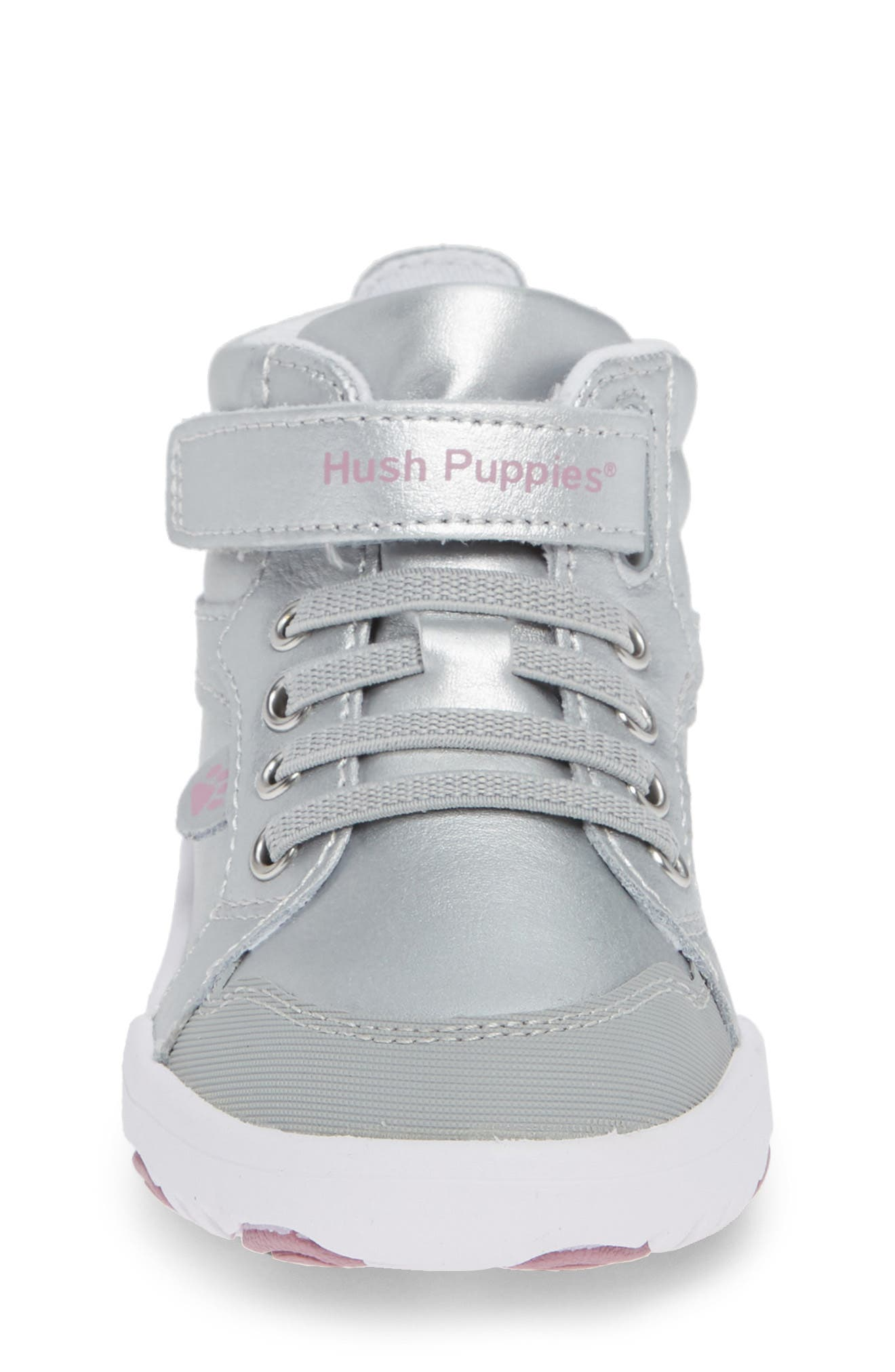 Buddy High Top Sneaker,                             Alternate thumbnail 4, color,                             SILVER