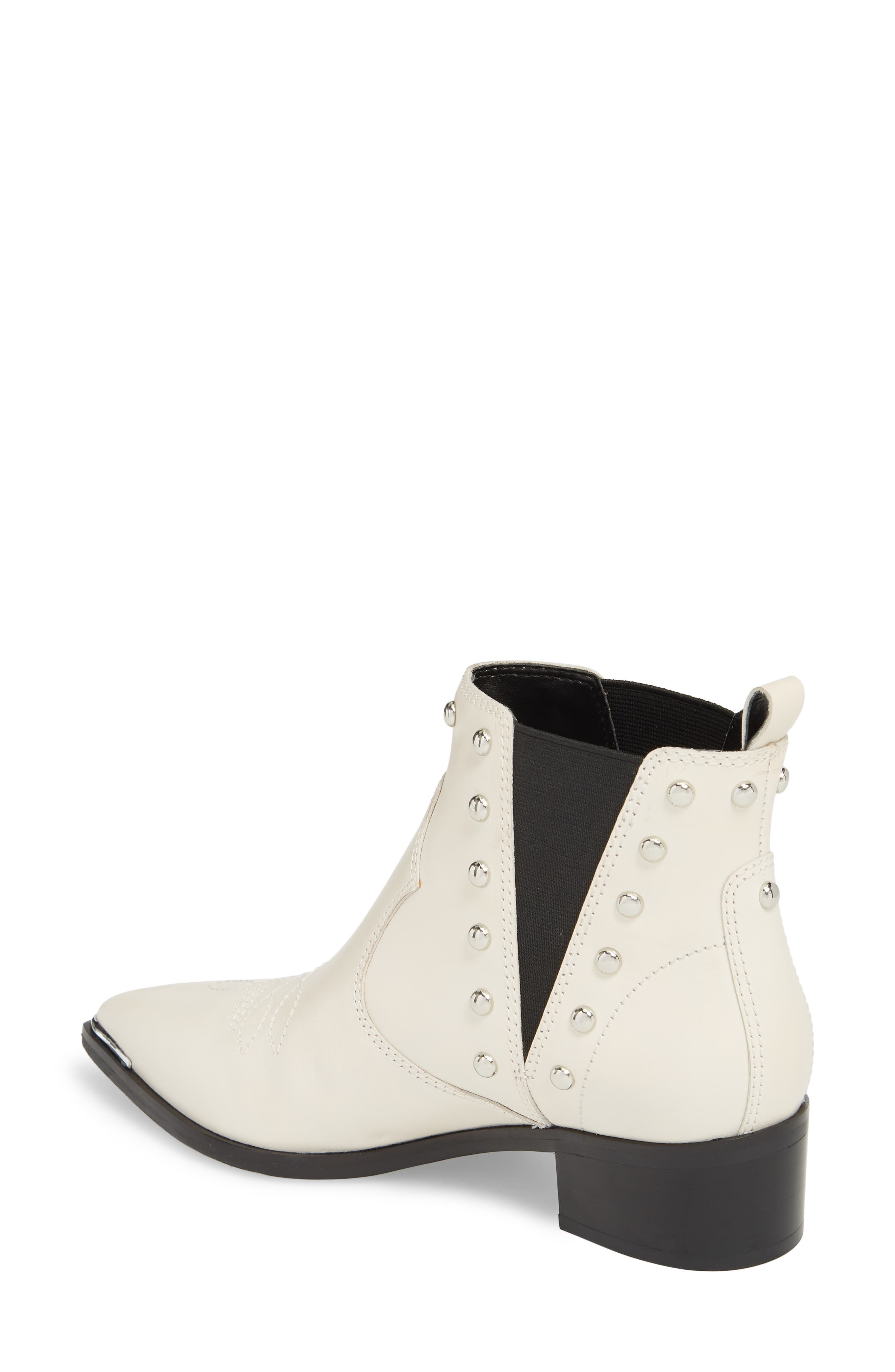 Yente Chelsea Boot,                             Alternate thumbnail 2, color,                             IVORY LEATHER