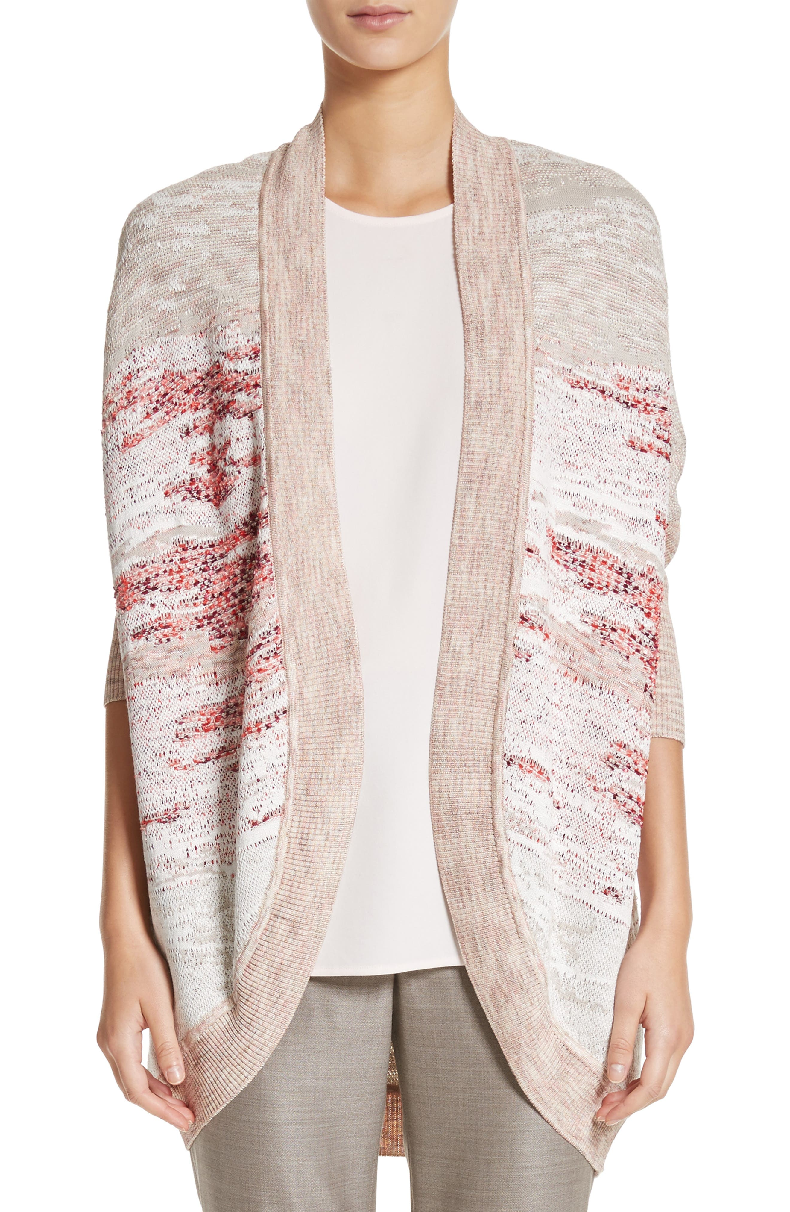 Ombré Textured Jacquard Knit Cardigan,                             Main thumbnail 1, color,                             050