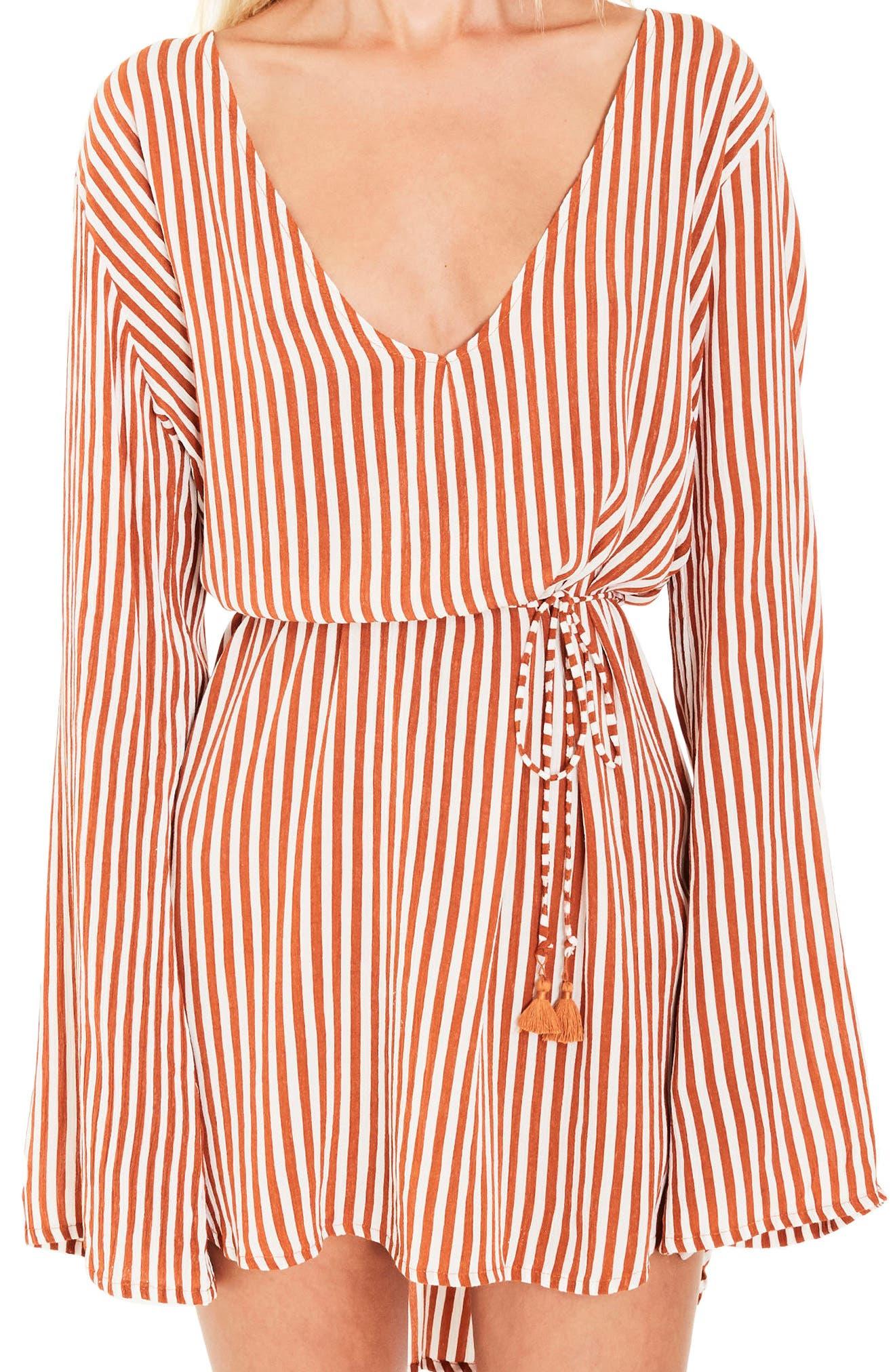 Apart Stripe Dress,                             Alternate thumbnail 4, color,                             801