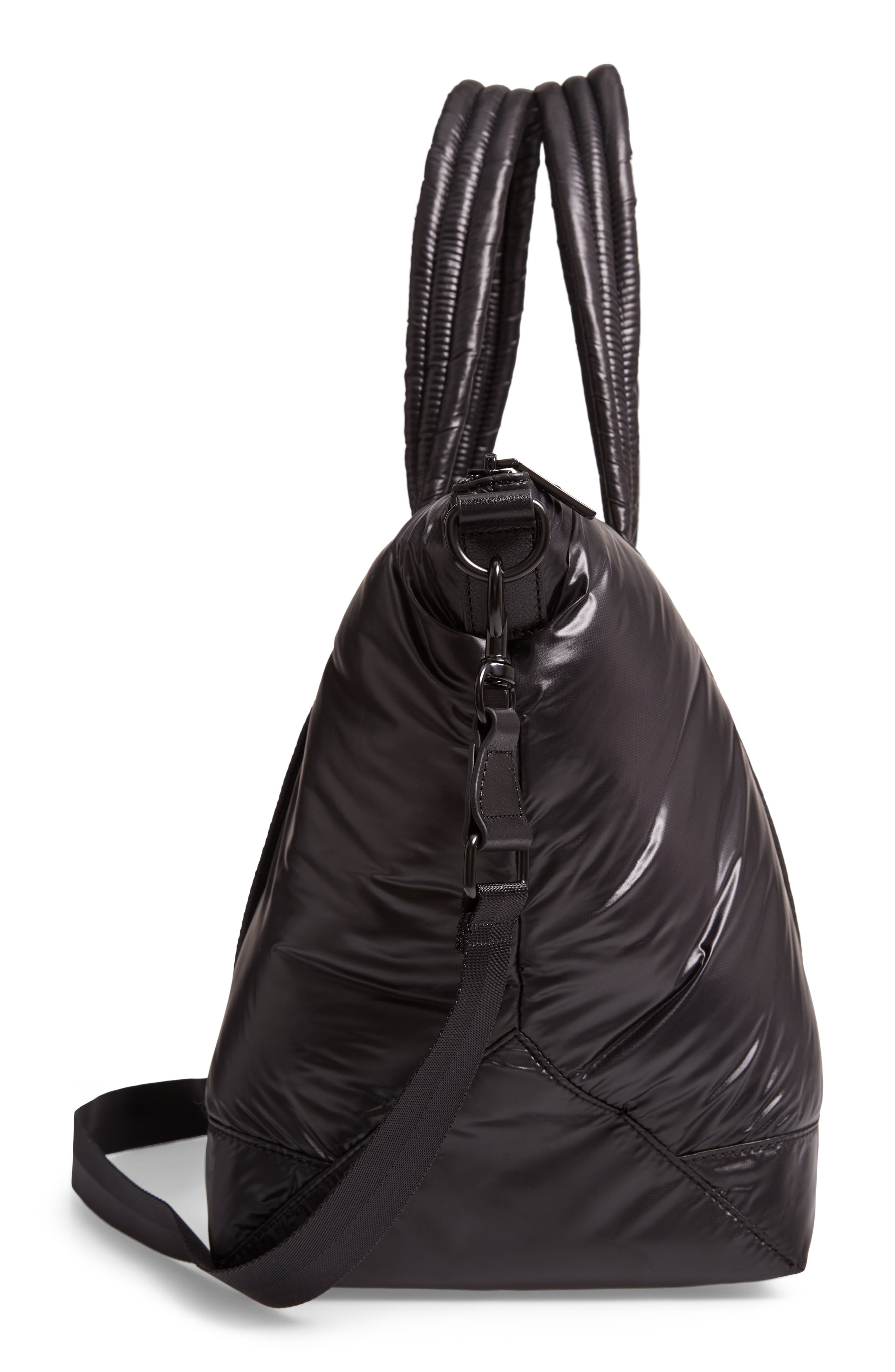 Puffy Nylon Duffel Bag,                             Alternate thumbnail 5, color,                             001