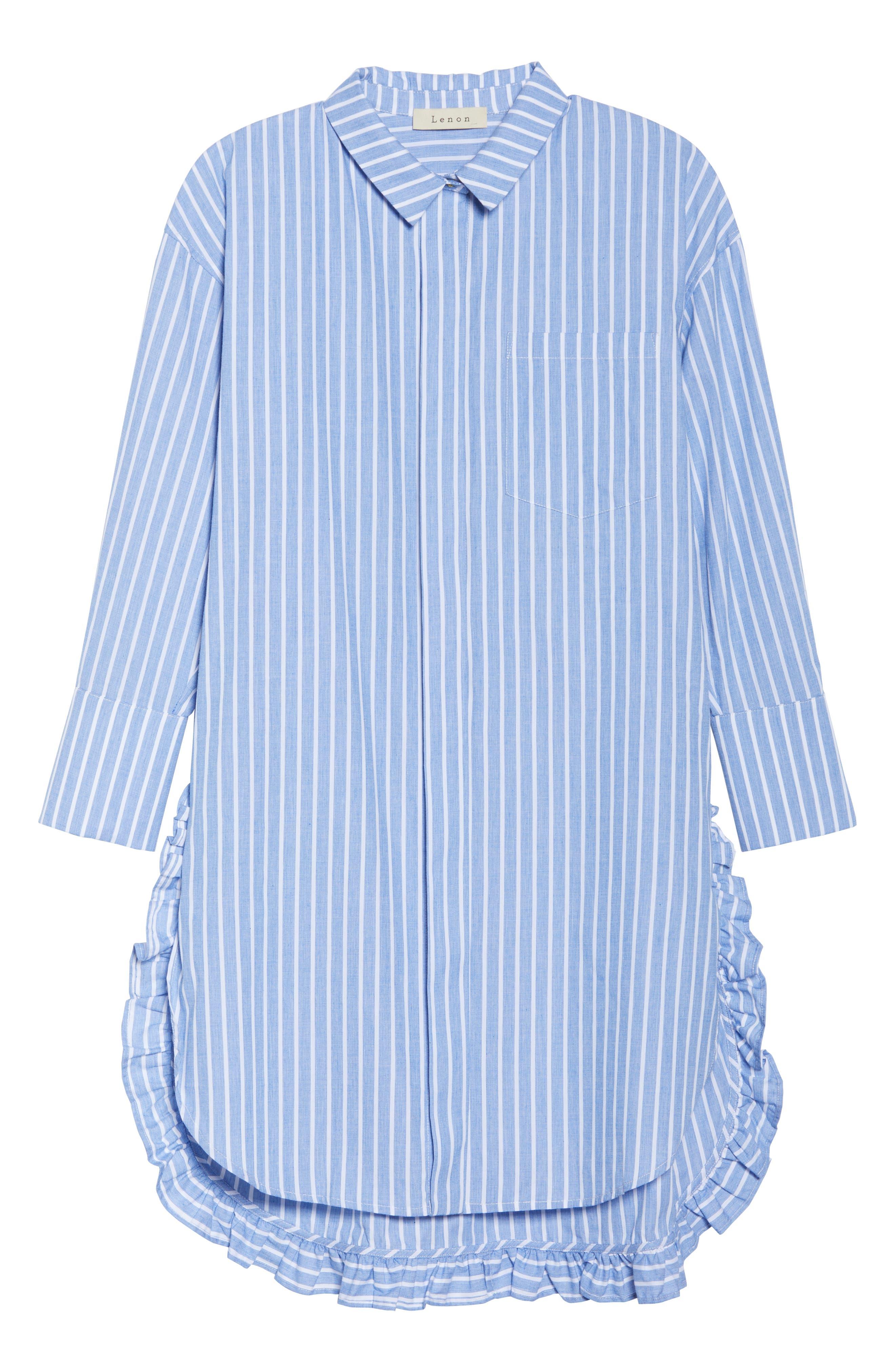 Stripe Shirtdress,                             Alternate thumbnail 7, color,                             465
