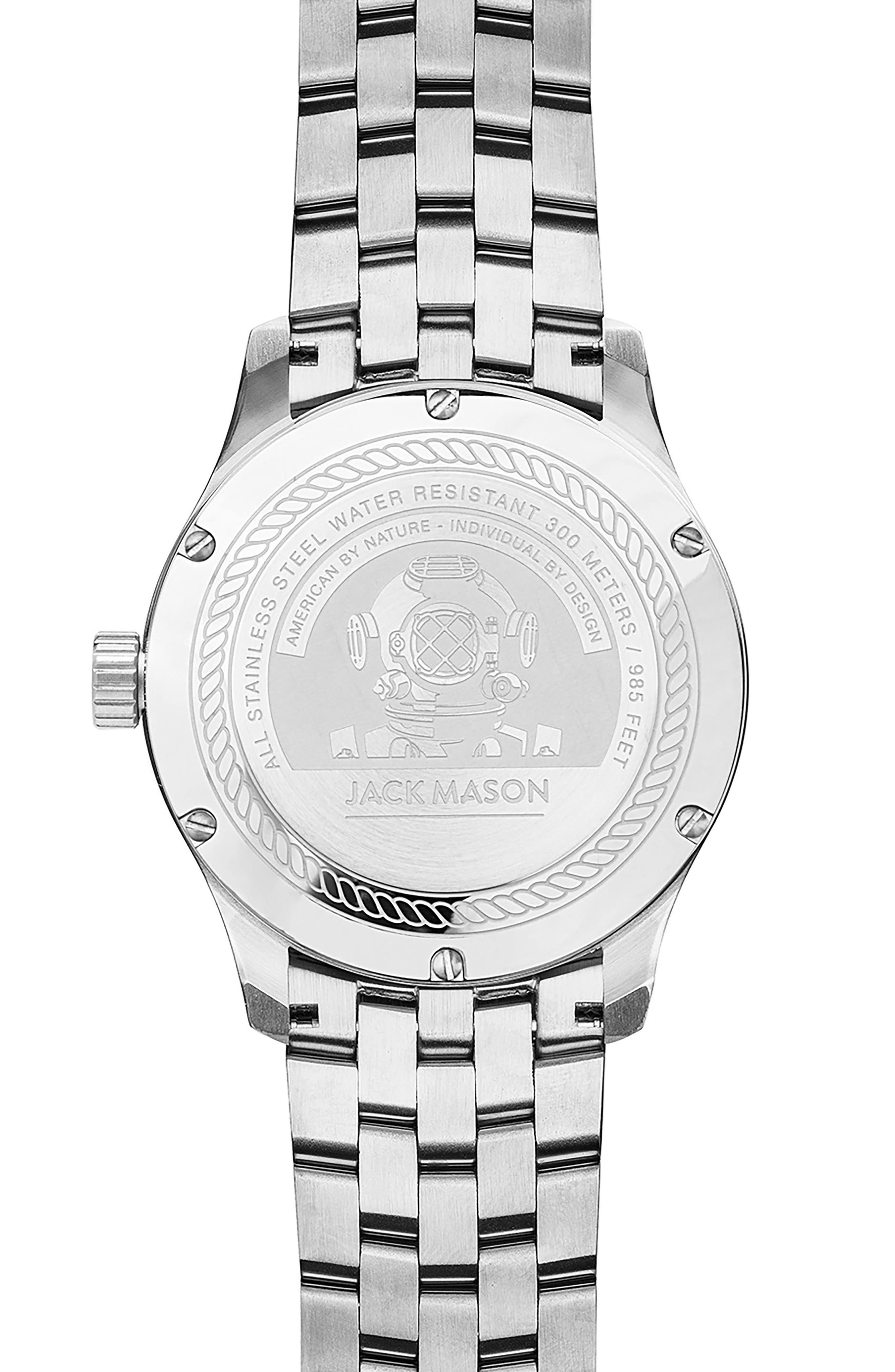 Diving Bracelet Watch, 42mm,                             Alternate thumbnail 2, color,                             NAVY/ STAINLESS STEEL