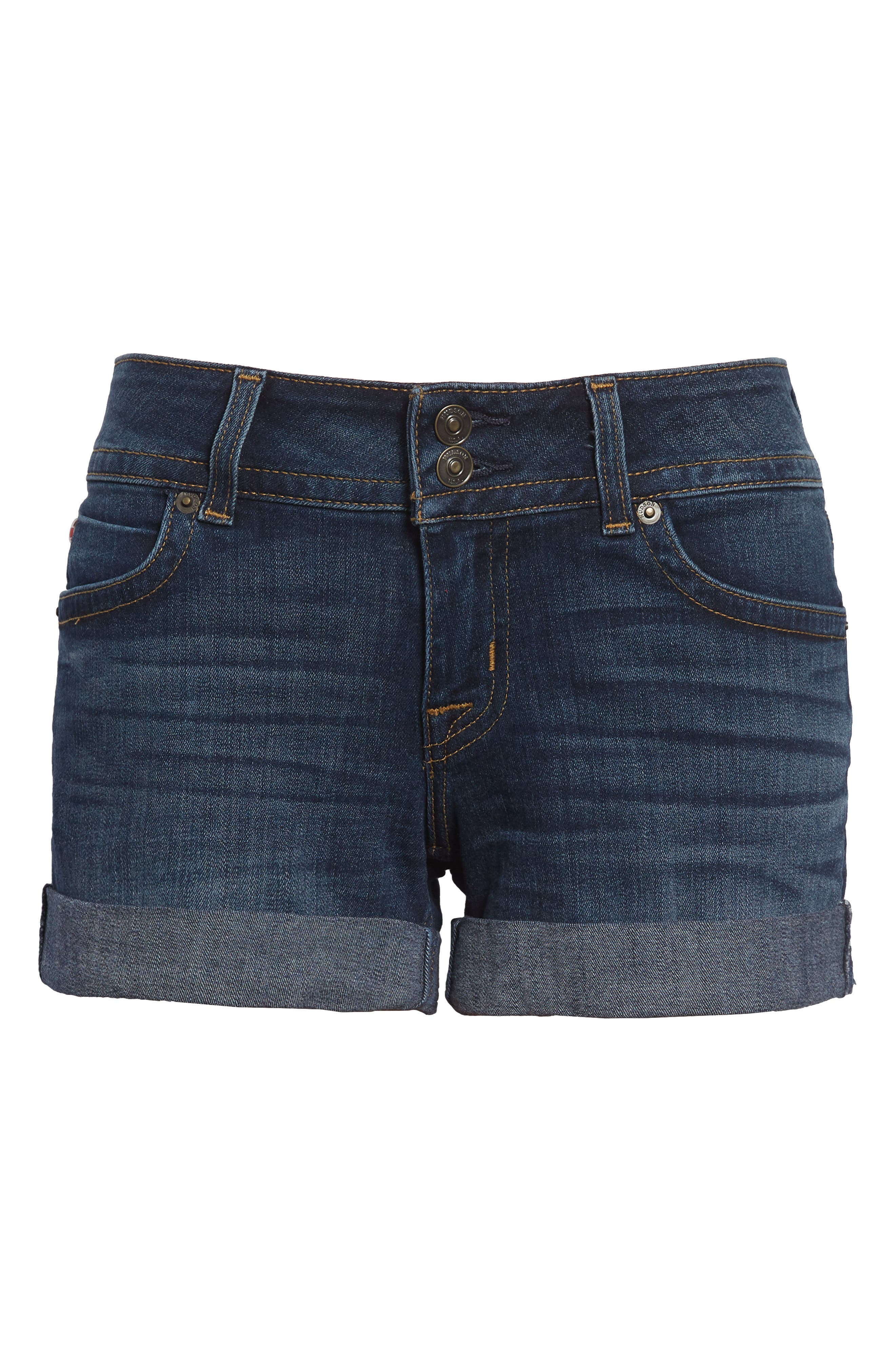 'Croxley' Cuffed Denim Shorts,                             Alternate thumbnail 6, color,