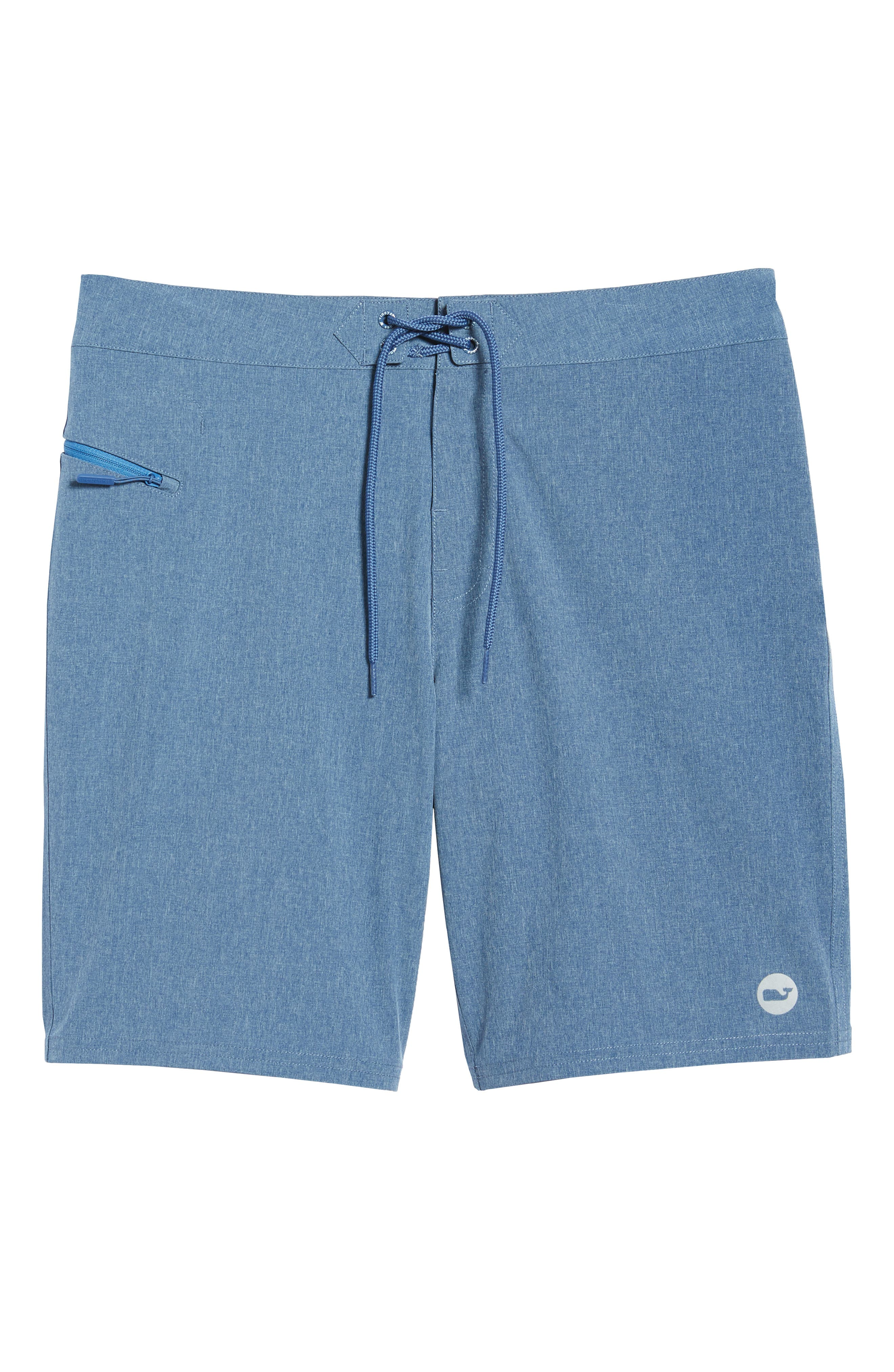 Heather Stretch Board Shorts,                             Alternate thumbnail 6, color,                             461
