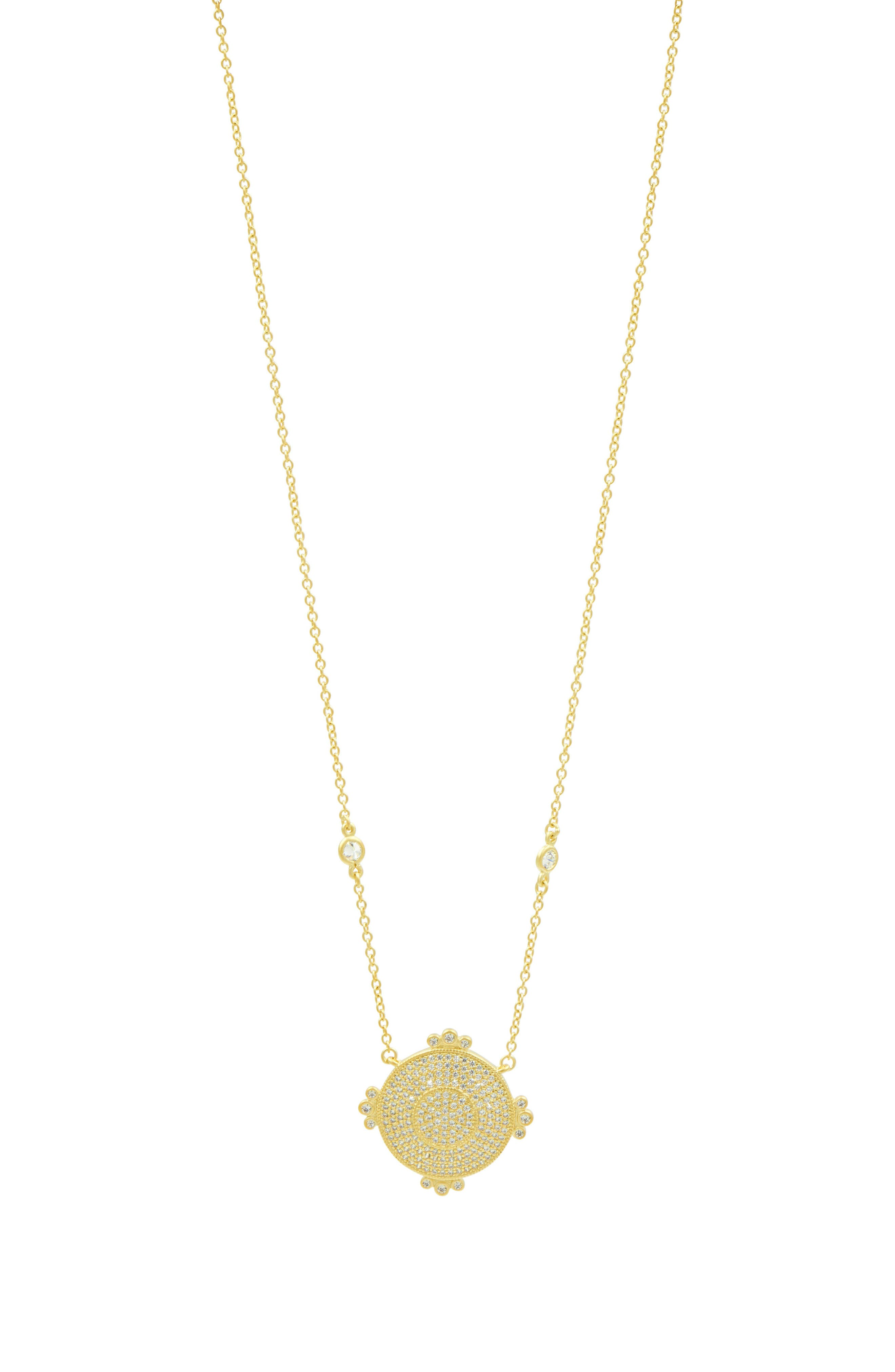 Amazonian Allure Pavé Pendant Necklace,                             Main thumbnail 1, color,                             710