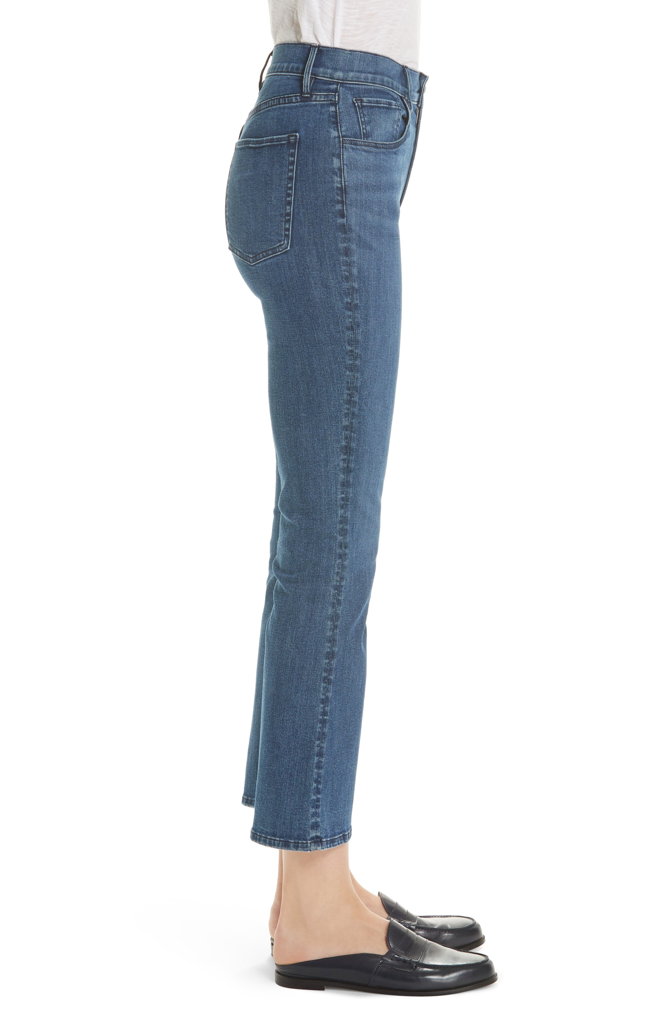 Crop Bootcut Jeans,                             Alternate thumbnail 3, color,                             ADRIANA