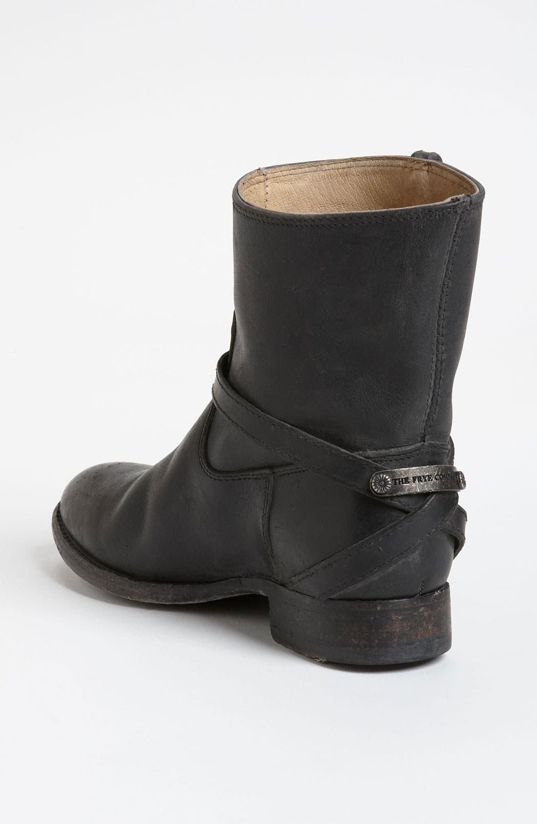 'Lindsay Plate' Short Boot,                             Alternate thumbnail 4, color,                             001