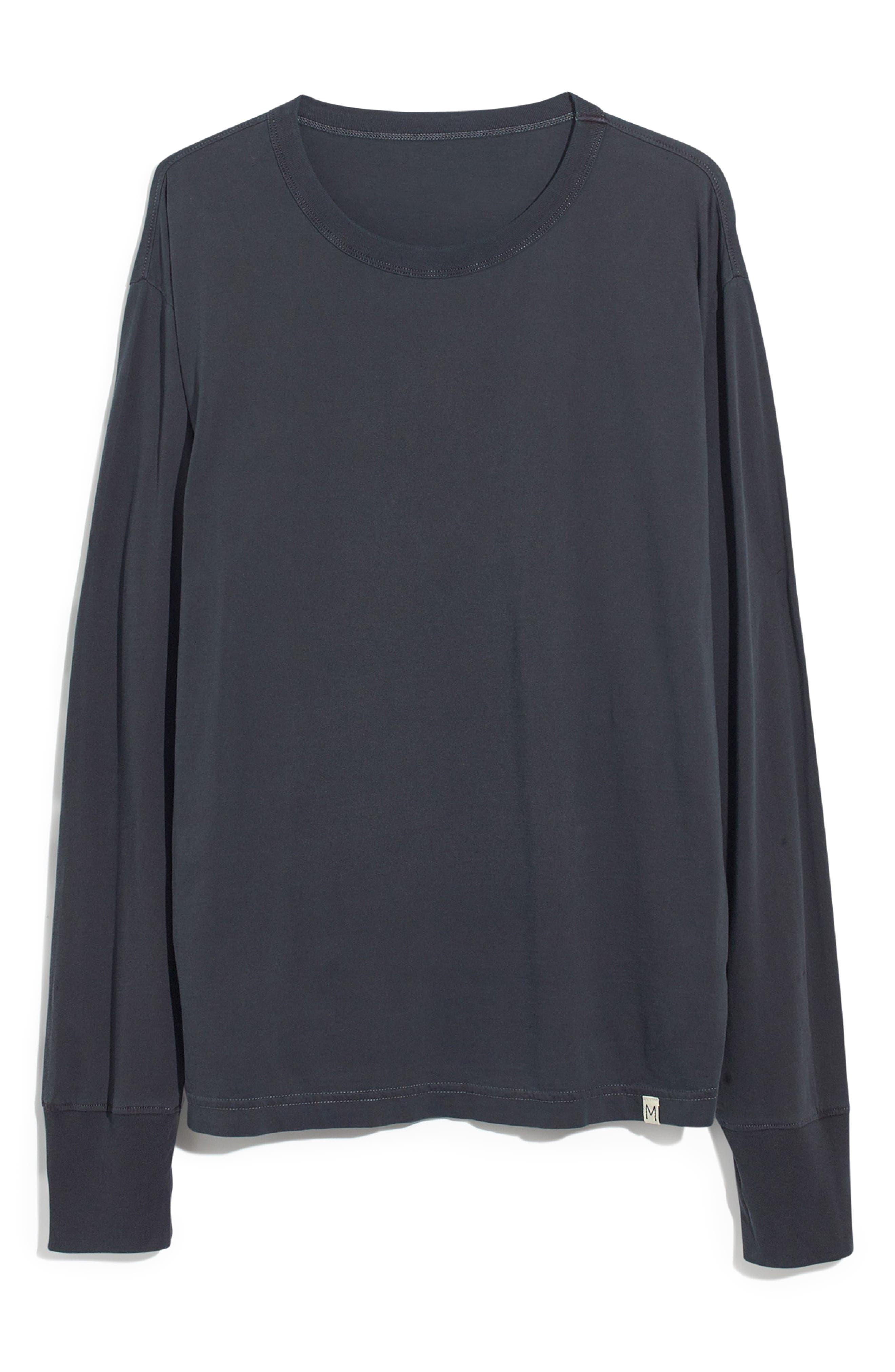 Long Sleeve Slim T-Shirt,                             Alternate thumbnail 4, color,                             CLASSIC BLACK