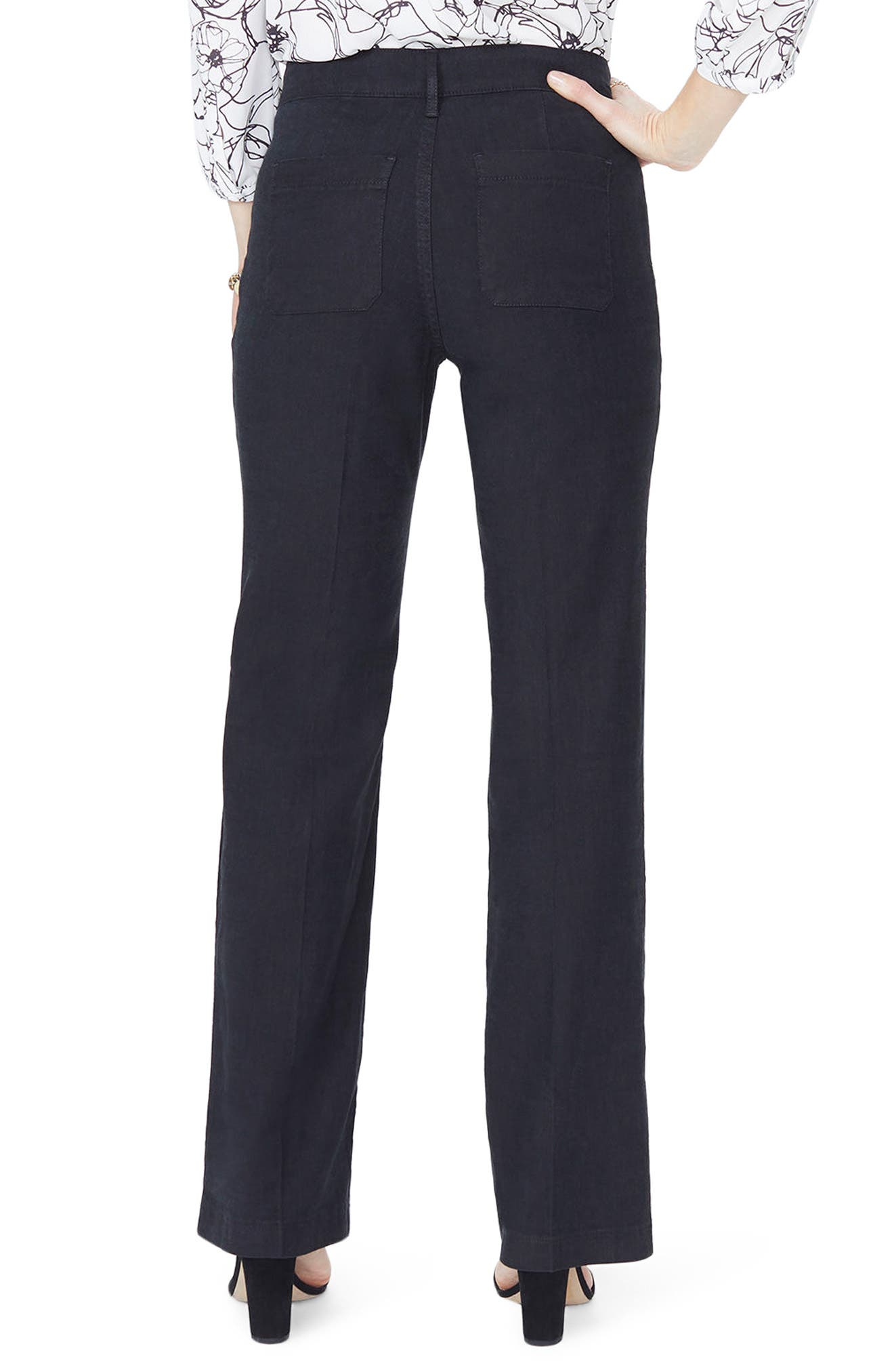 Linen Trousers,                             Alternate thumbnail 2, color,                             001