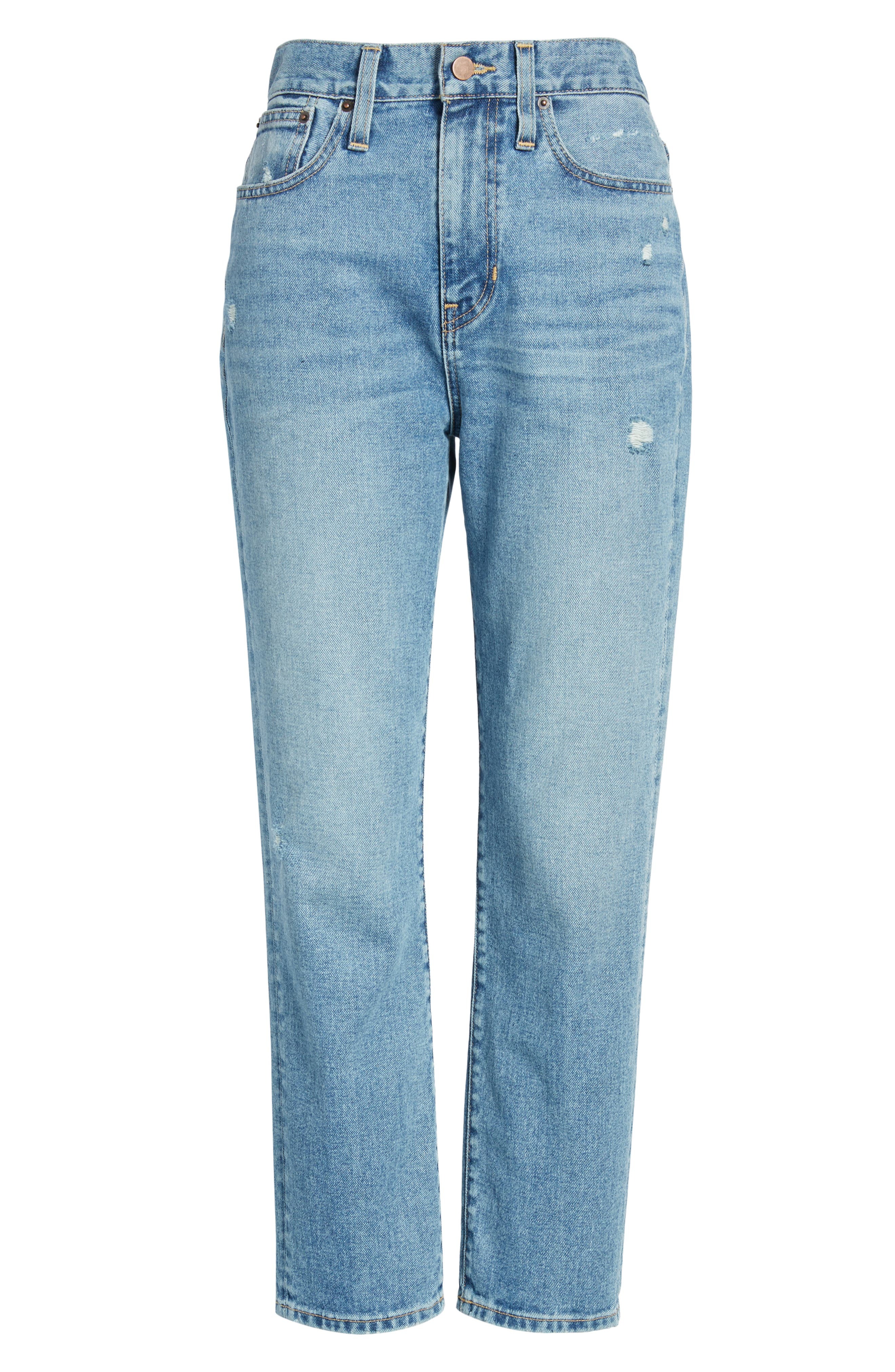 Cigarette Jeans,                             Alternate thumbnail 7, color,                             LIGHT INDIGO WASH