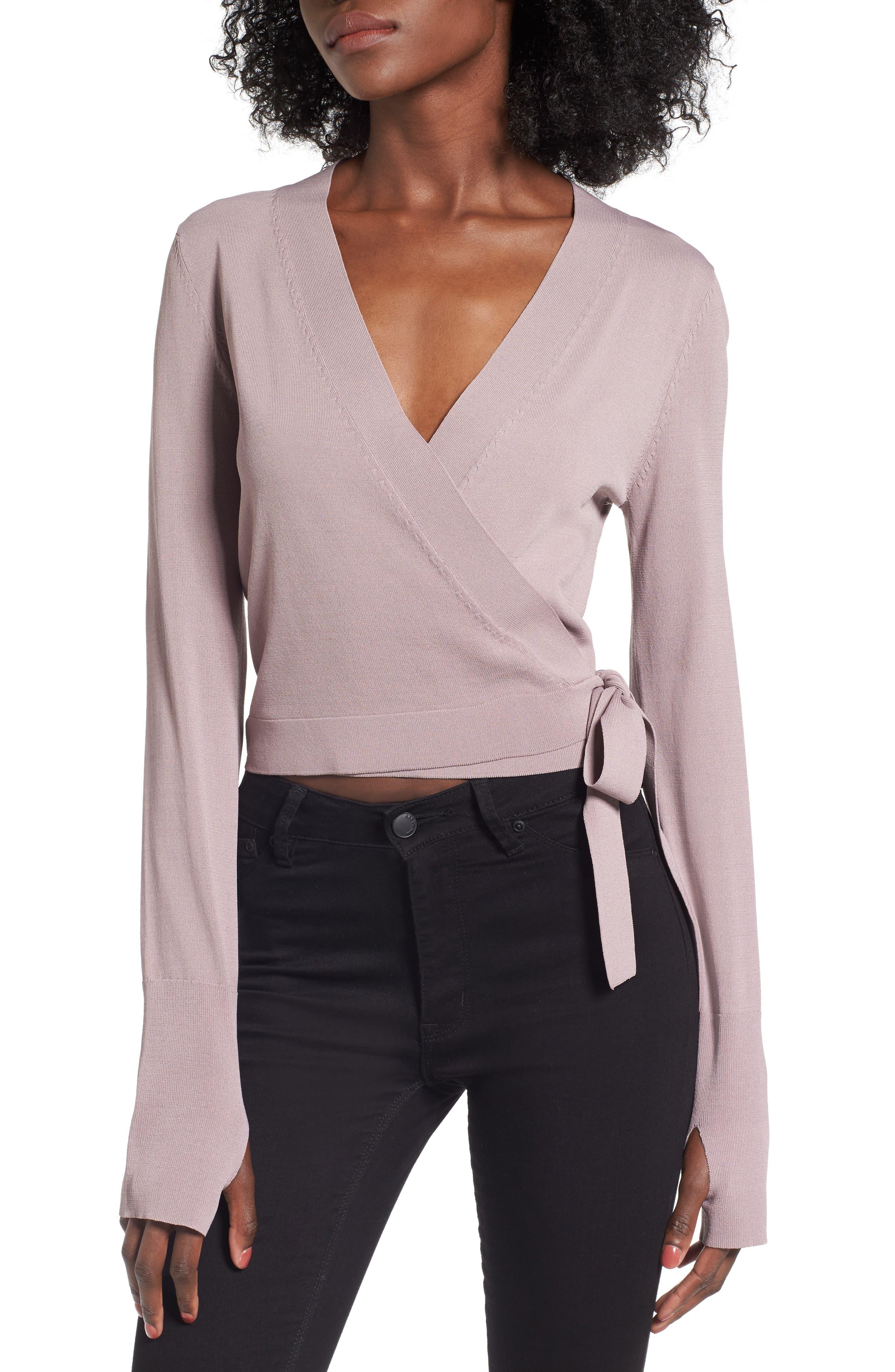 Ballet Wrap Sweater,                             Main thumbnail 2, color,