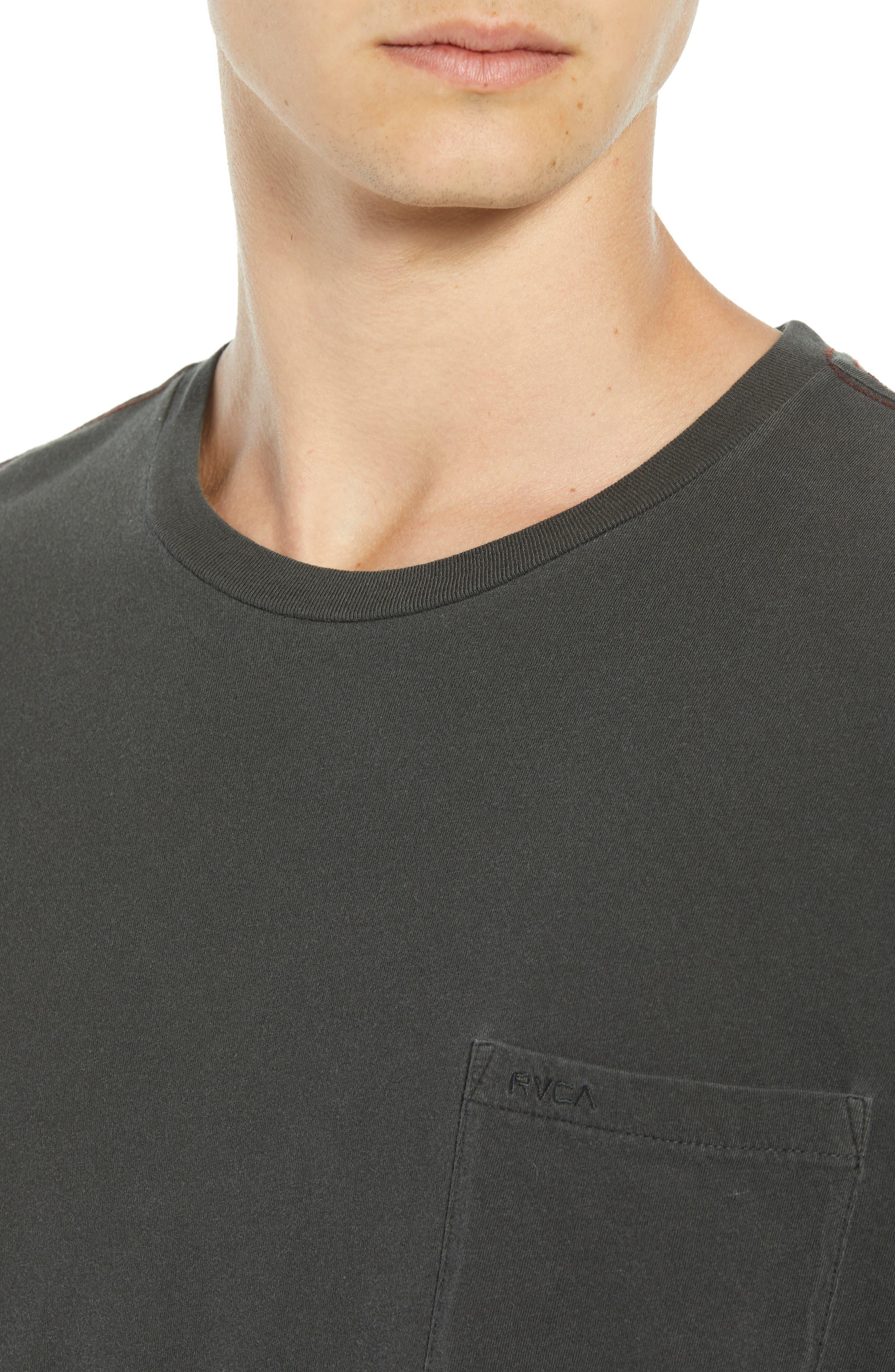 PTC Pigment Long Sleeve T-Shirt,                             Alternate thumbnail 4, color,                             PIRATE BLACK