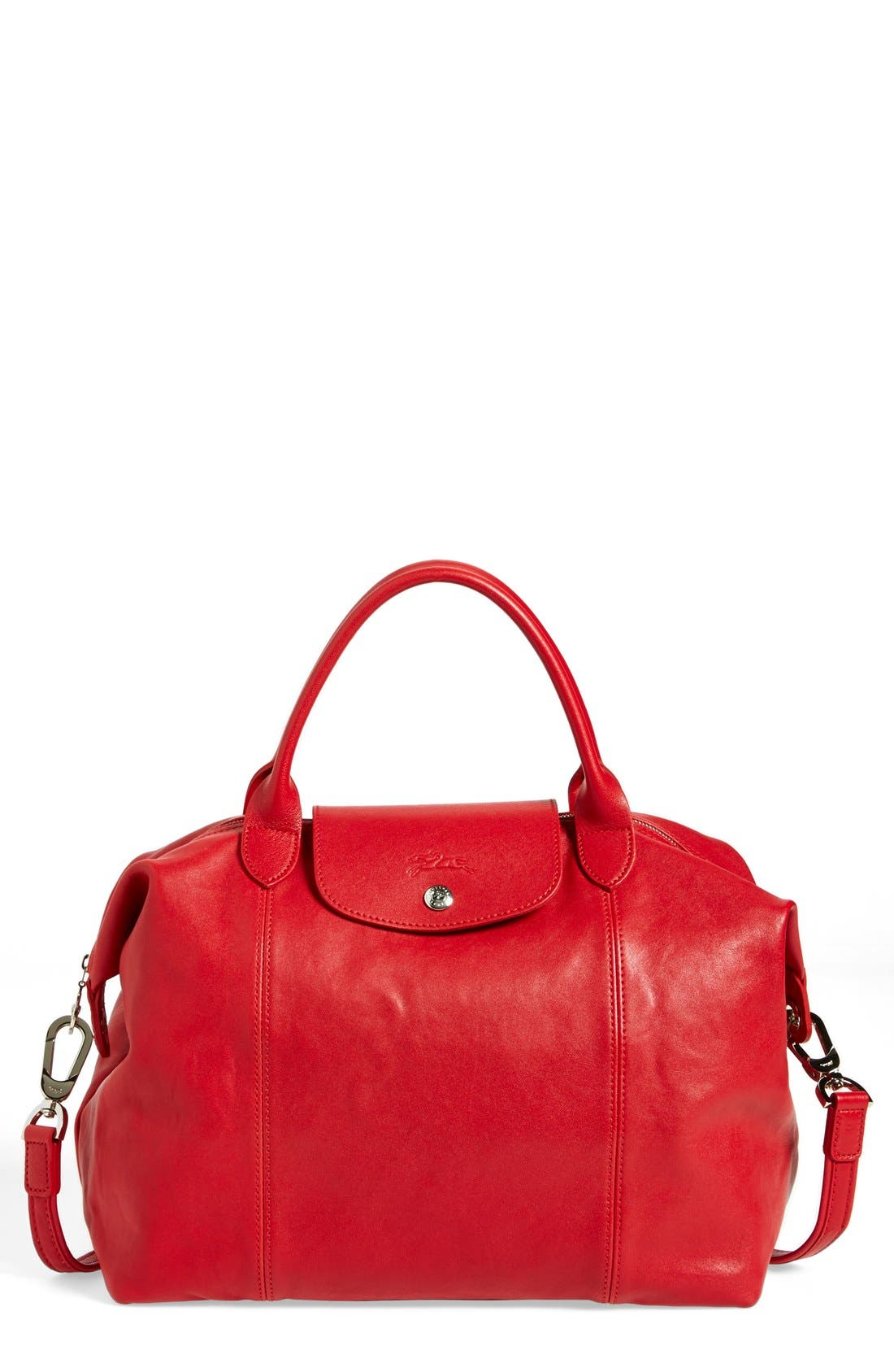 Medium 'Le Pliage Cuir' Leather Top Handle Tote,                             Main thumbnail 24, color,