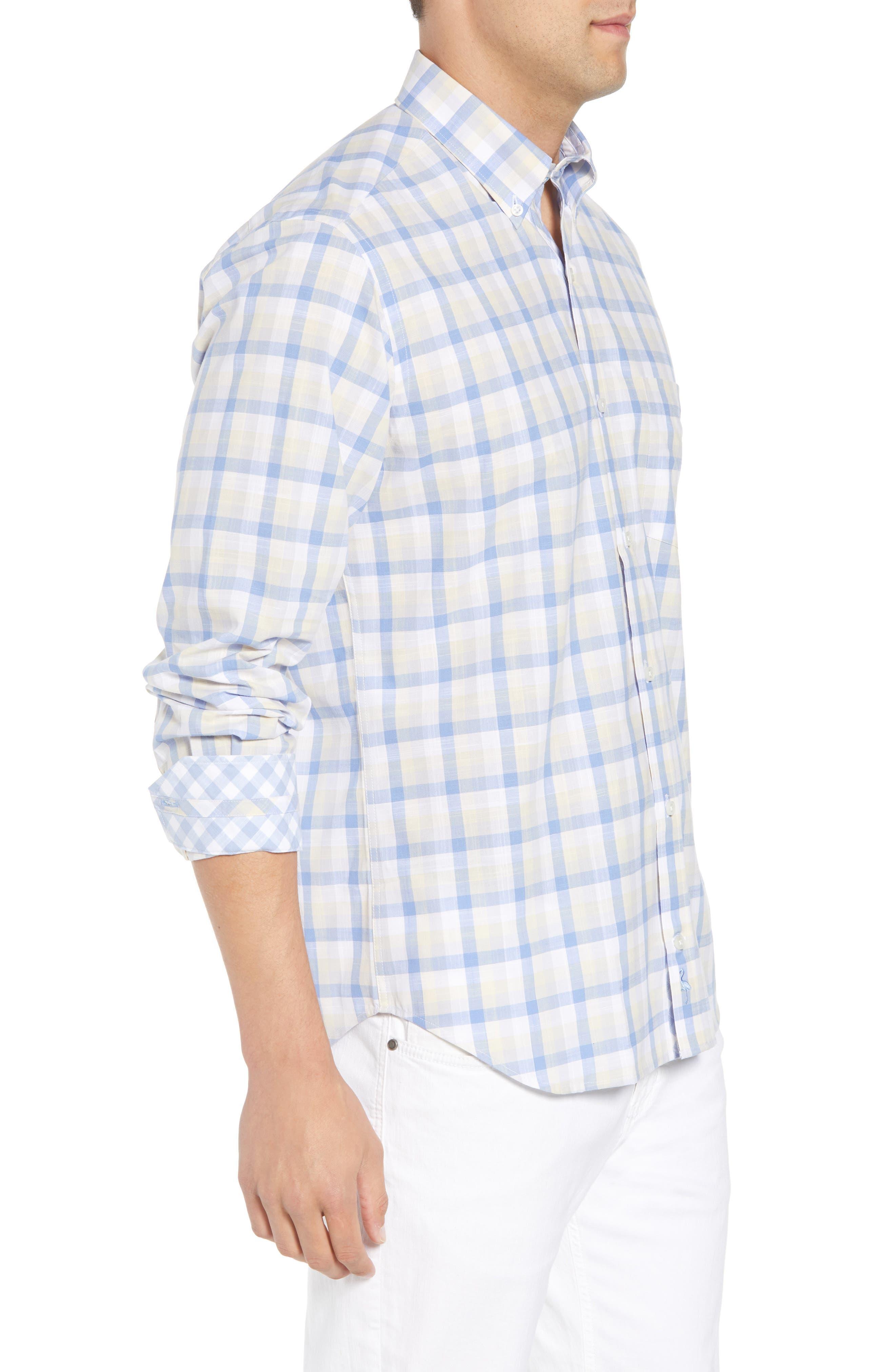Hobbes Regular Fit Check Sport Shirt,                             Alternate thumbnail 3, color,                             450