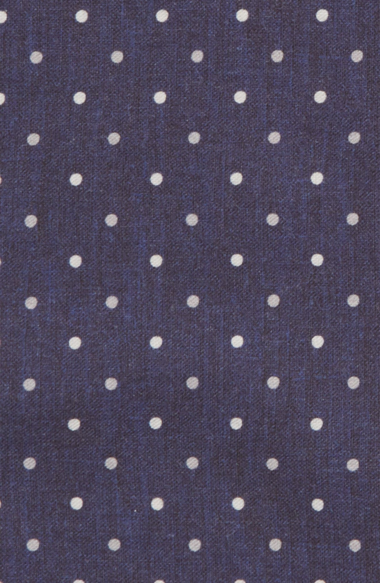 Dotted Wool & Cotton Pocket Square,                             Alternate thumbnail 6, color,