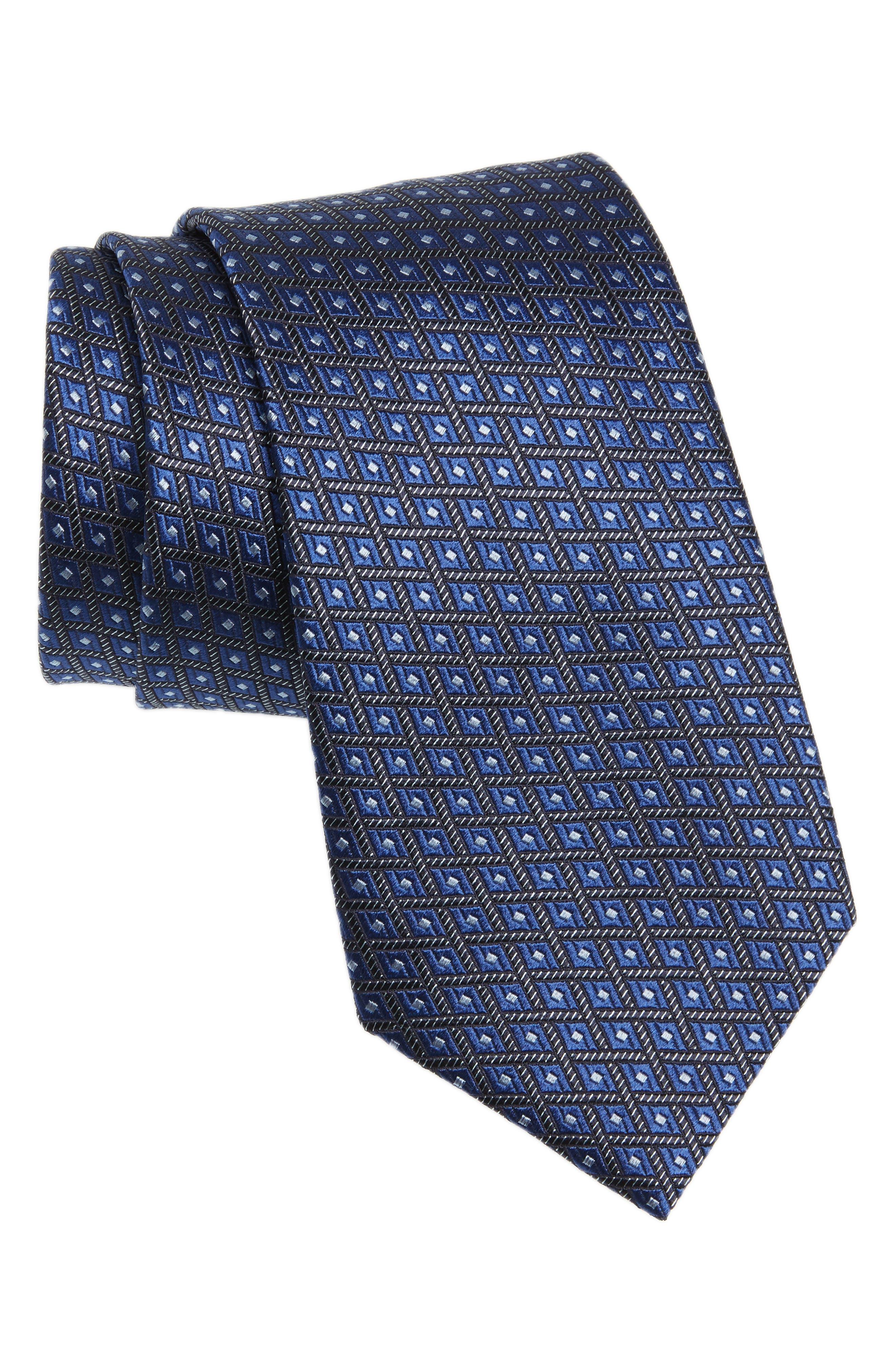 Neat Silk Tie,                             Main thumbnail 1, color,