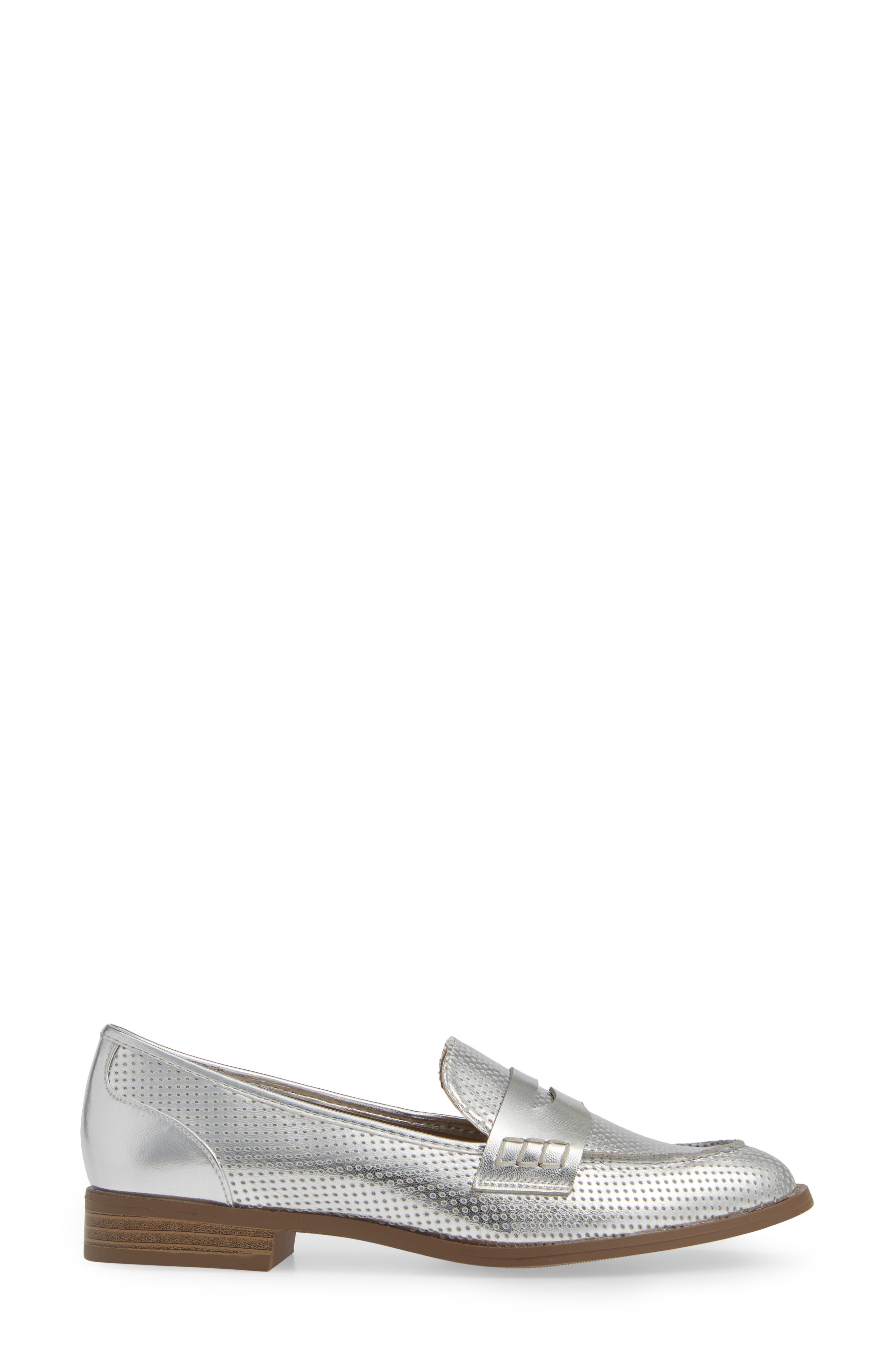 Lewis Loafer,                             Alternate thumbnail 3, color,                             SILVER
