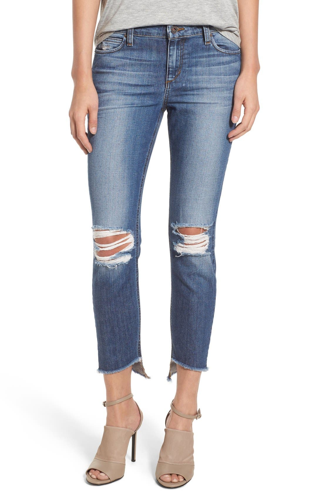 'Collector's - Blondie' Destroyed Ankle Skinny Jeans,                             Main thumbnail 1, color,                             410