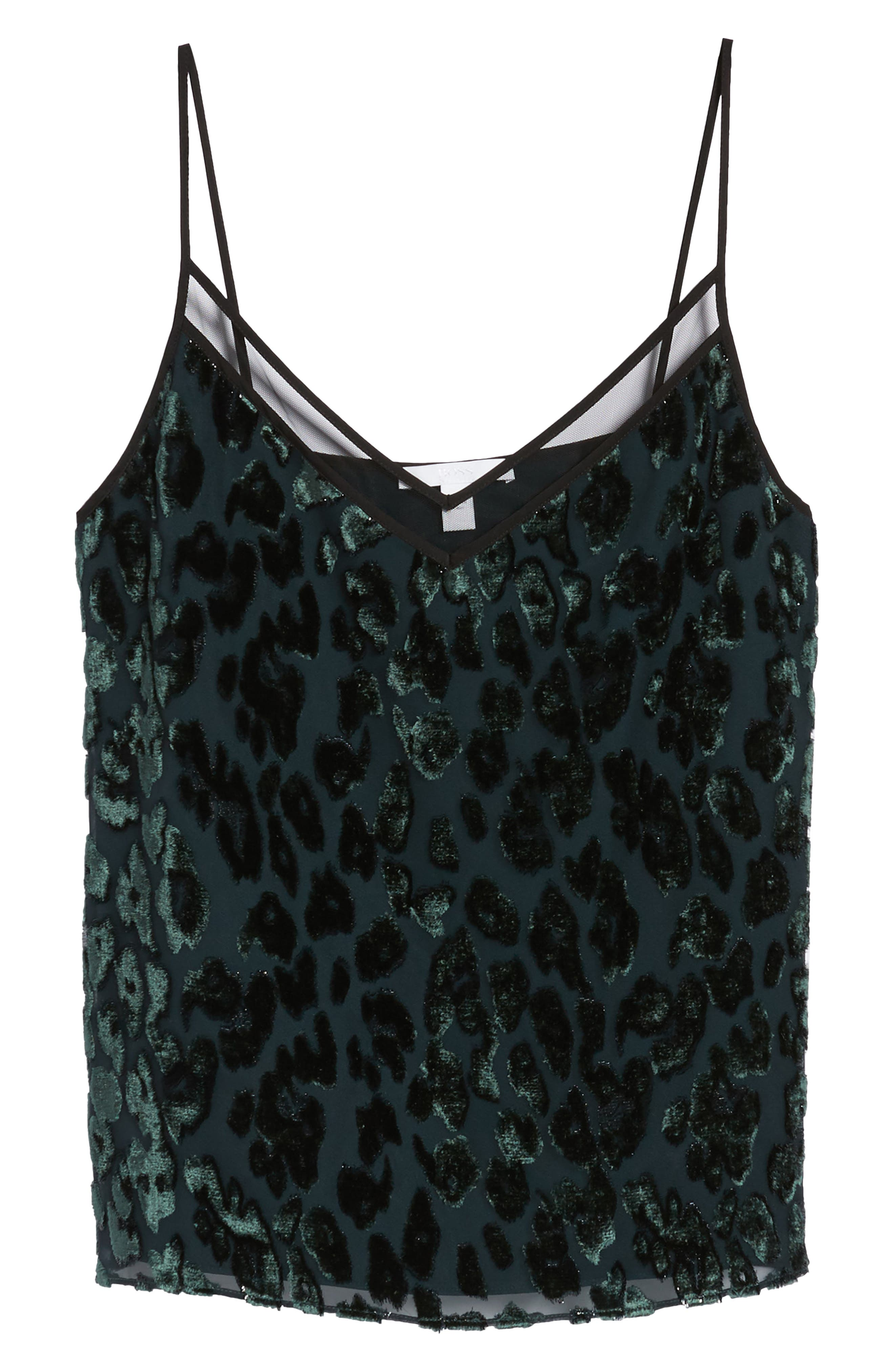 Ilomea Metallic Velvet Camisole,                             Alternate thumbnail 6, color,
