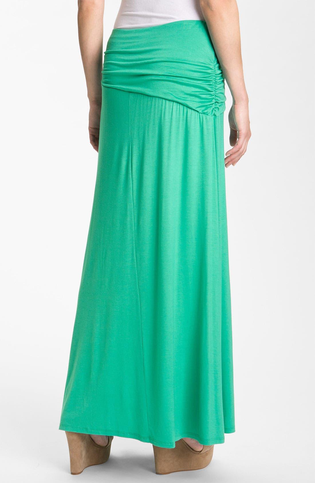 Asymmetric Knit Maxi Skirt,                             Alternate thumbnail 18, color,