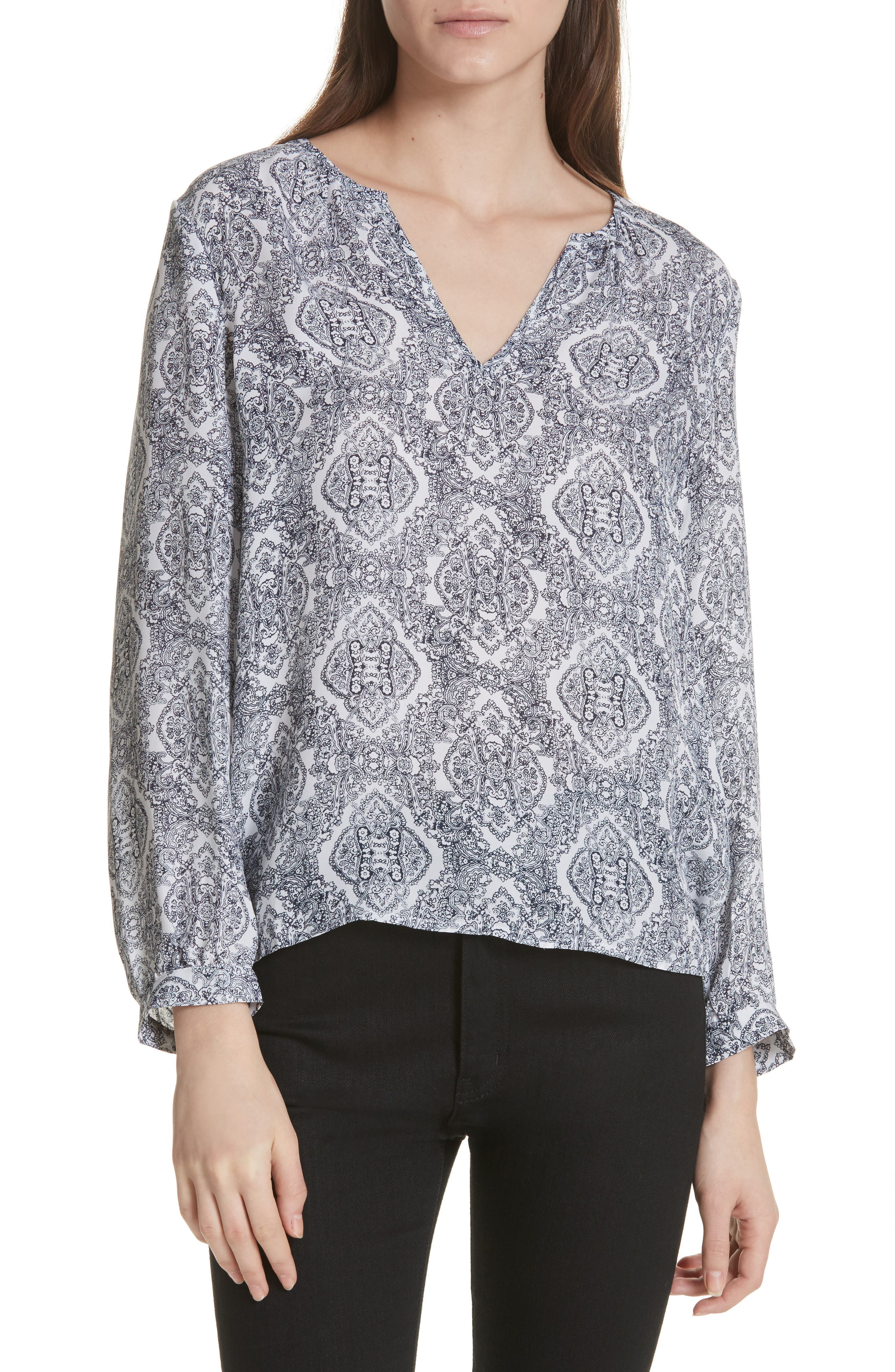 Mauro Silk Blouse,                         Main,                         color, 114