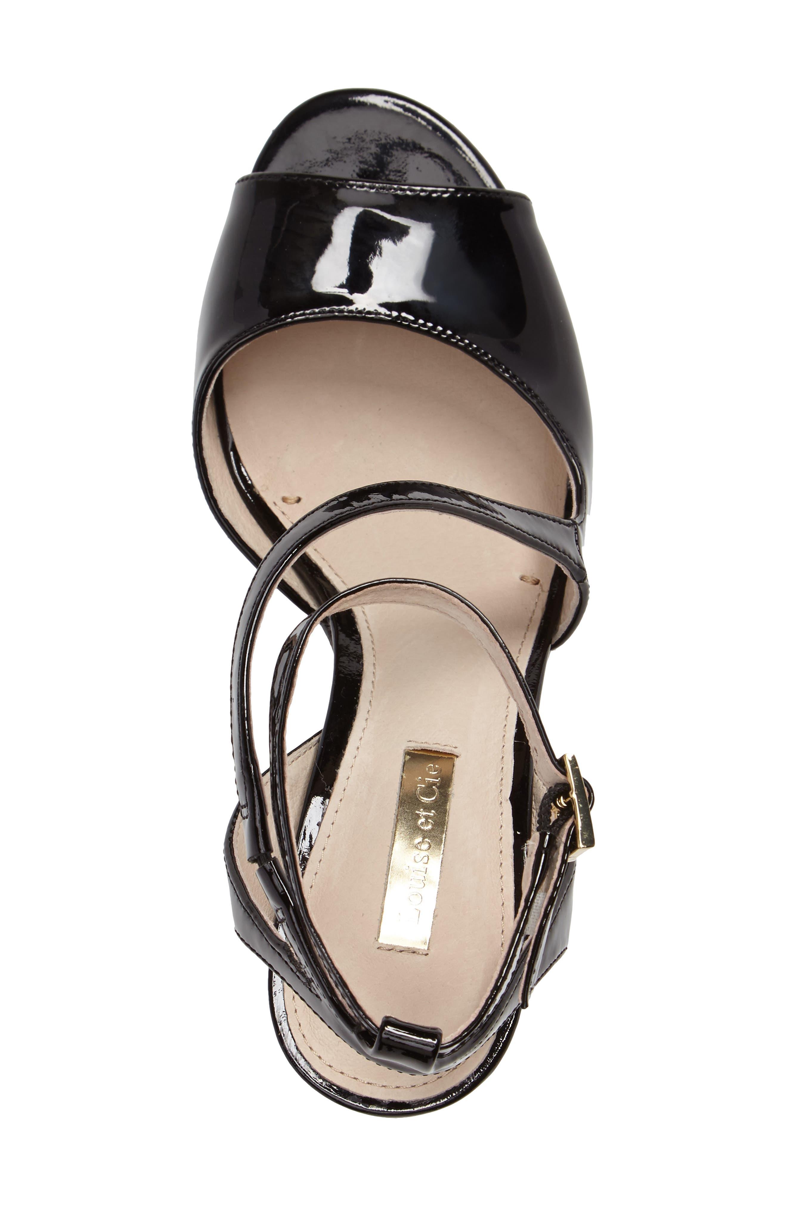 Kealy Asymmetrical Strappy Sandal,                             Alternate thumbnail 3, color,                             003