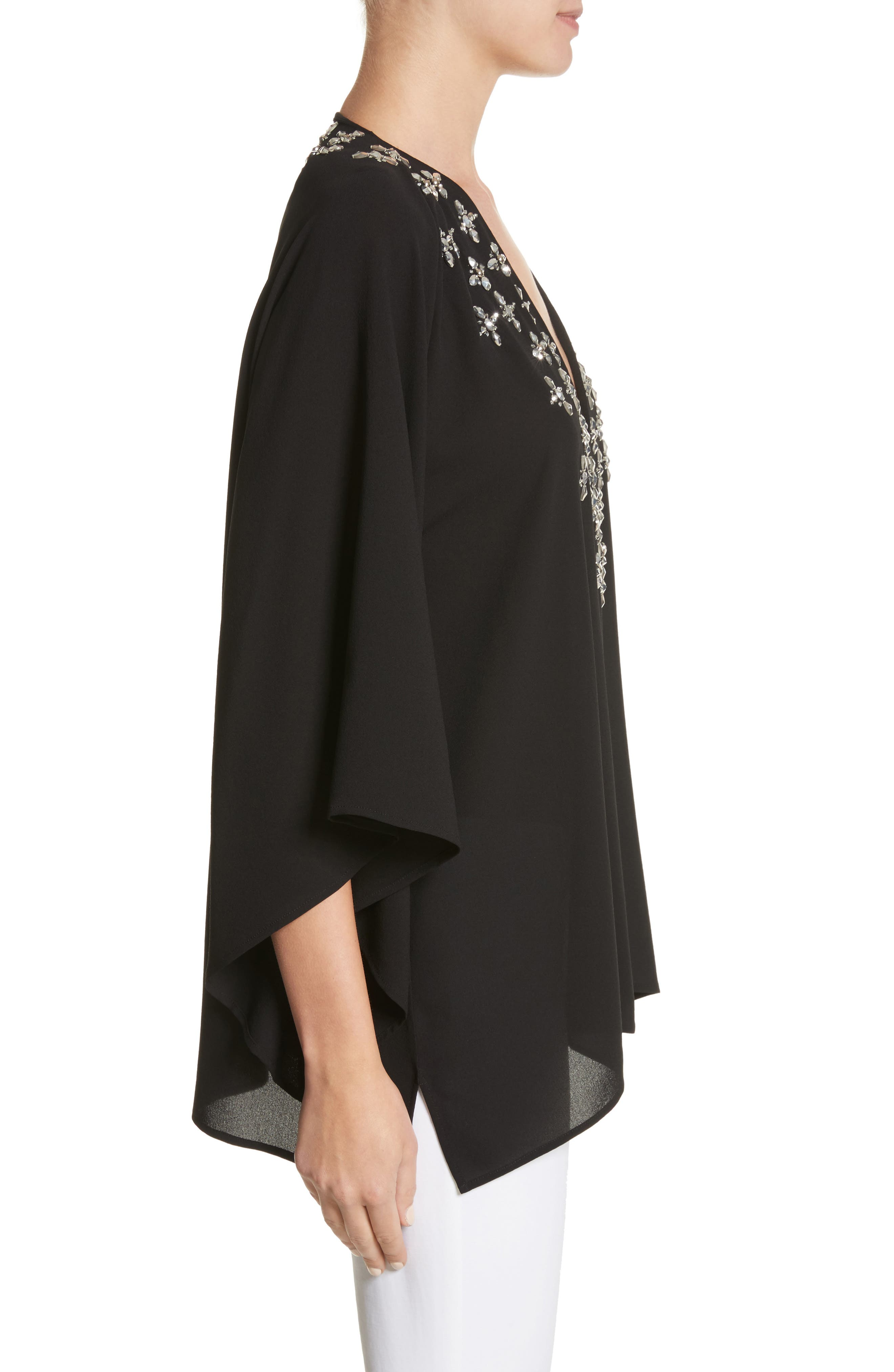 Jeweled Silk Tunic,                             Alternate thumbnail 3, color,                             001