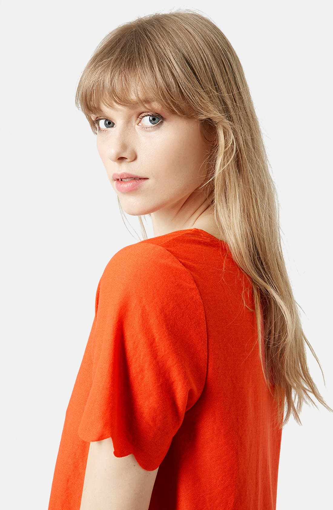 Scallop Frill Tee,                             Alternate thumbnail 41, color,