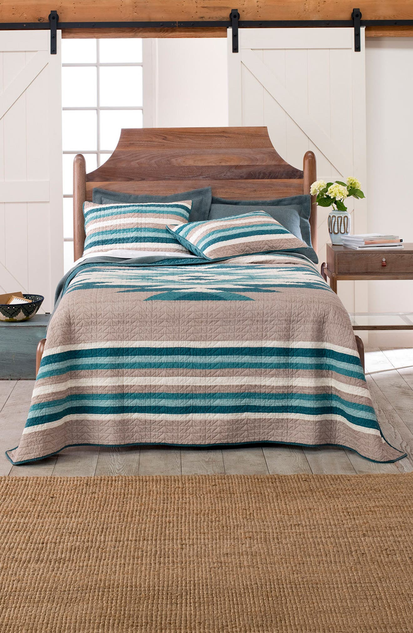 Sierra Madre Pieced Quilt and Sham Set,                         Main,                         color, 400