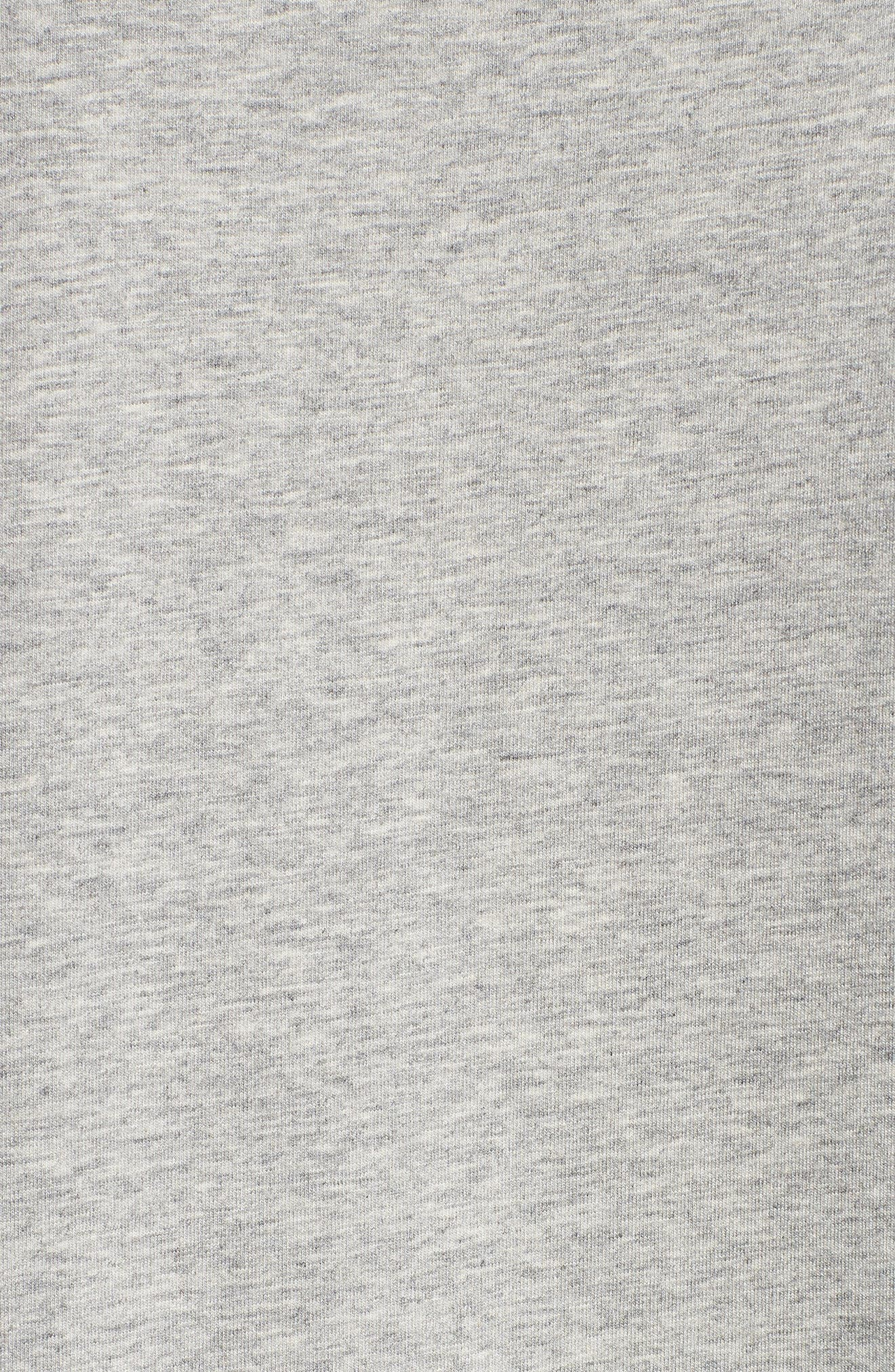 Second Skin Crewneck T-Shirt,                             Alternate thumbnail 5, color,                             HEATHER GREY